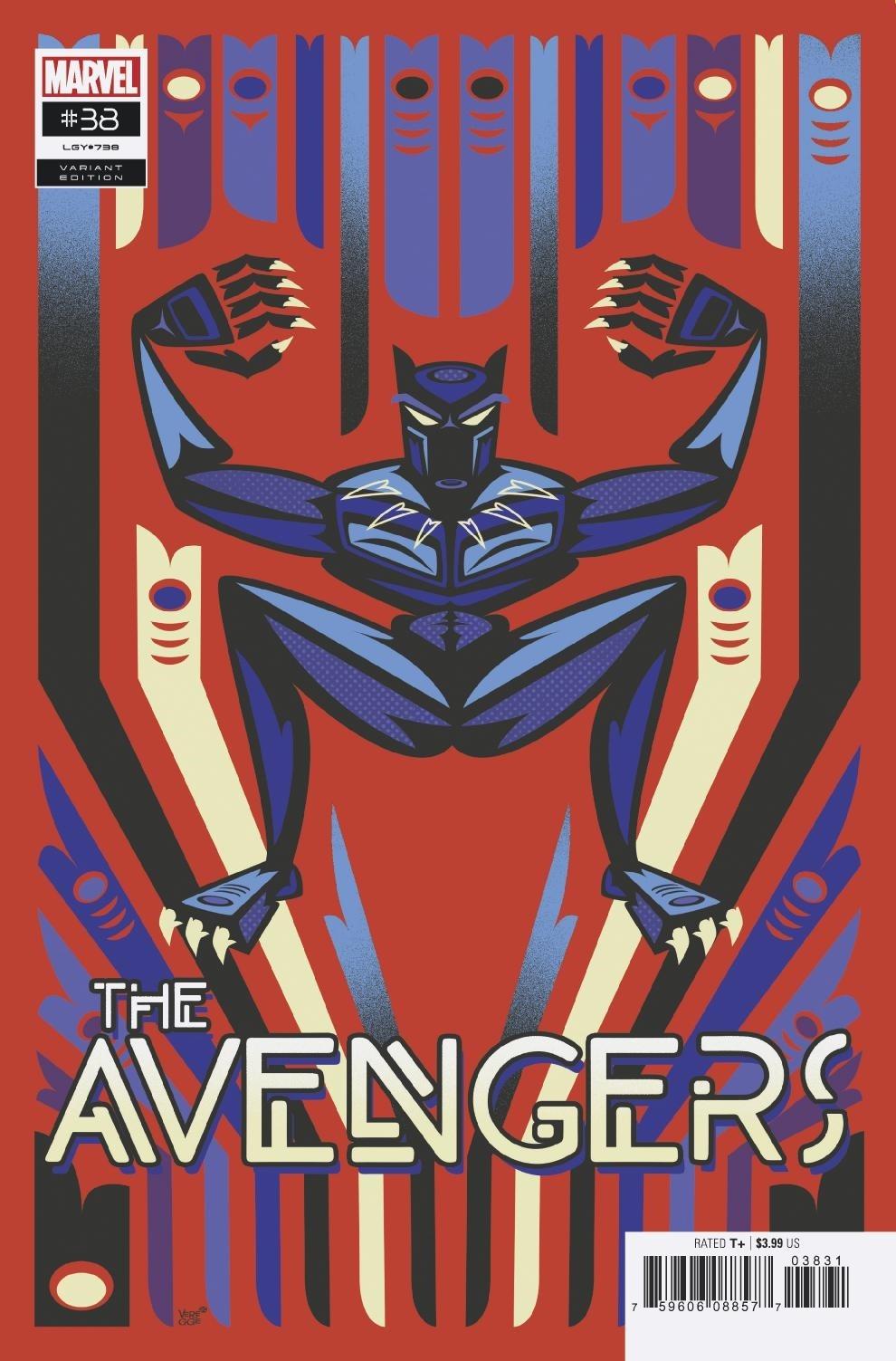 SEP200651 - AVENGERS #38 VEREGGE BLACK PANTHER VAR - Previews World