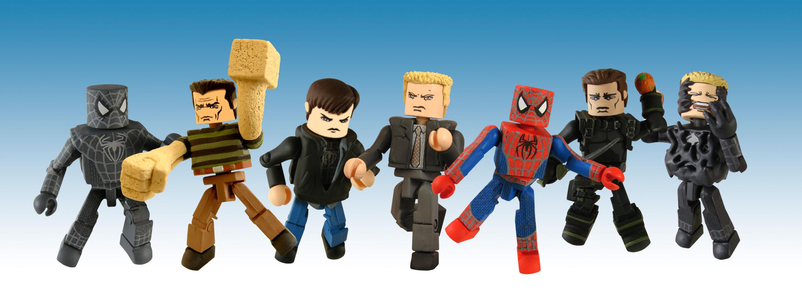 Marvel Minimates série 17 Spider-Man Movie Peter Parker /& Transformation Venom