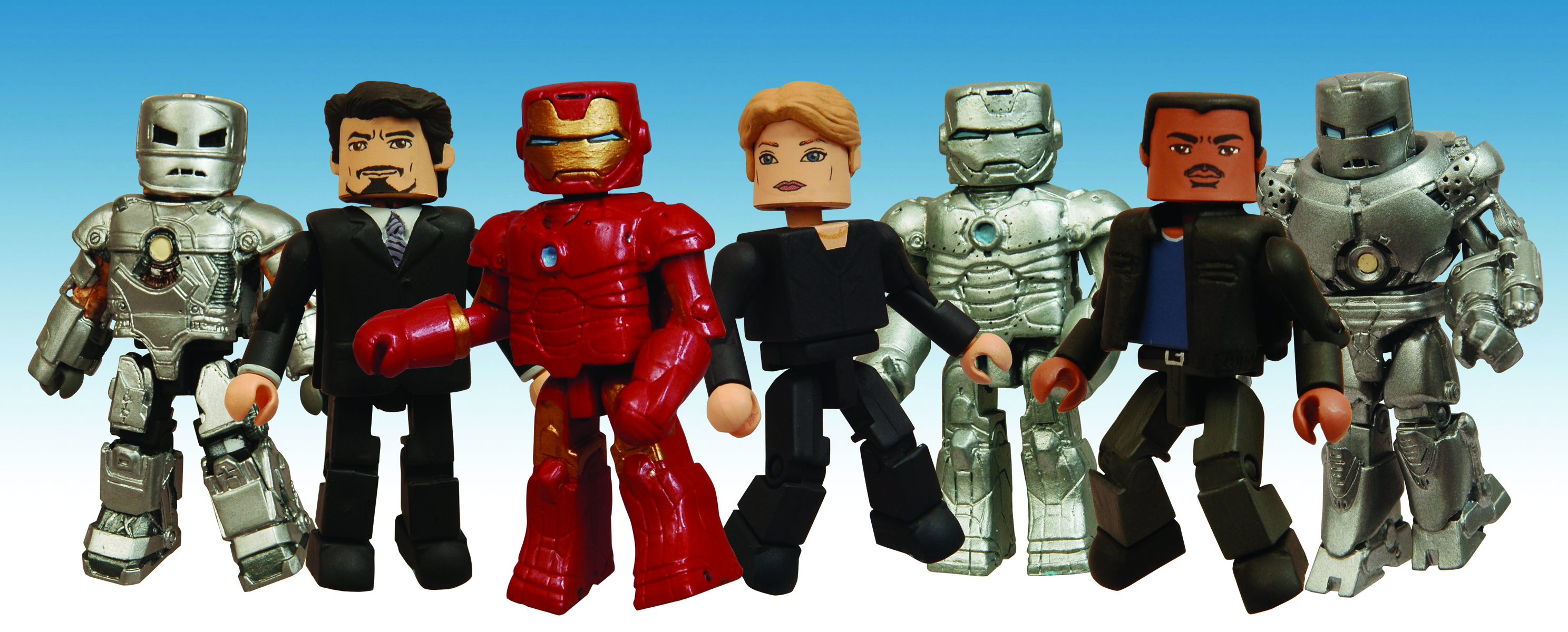 Marvel Minimates Series 21 Iron Man Movie Mark I Iron Man /& Jim Rhodes