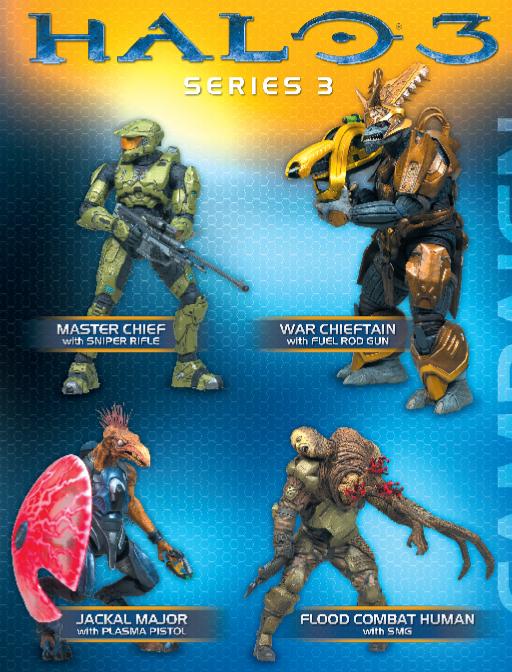 Elite Combat Series 3 With Plasma Rifle Halo Mcfarlane Action Figure Blue