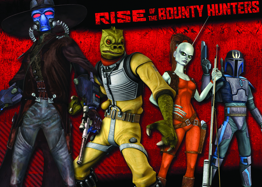 Rise Of The Bounty Hunters 20 Card Foil Character Set Star Wars Clone Wars 2