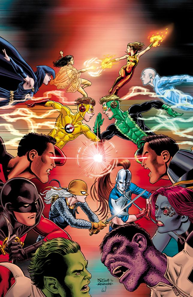 The injustice comics are assembling a dark teen titans team
