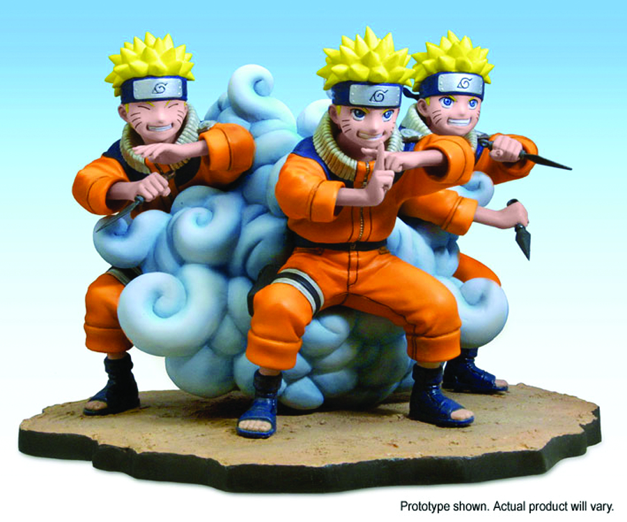 Apr063975 Naruto Shadow Clone Jutsu Statue O A Previews World Press the v key to make a shadow clone. naruto shadow clone jutsu statue o a