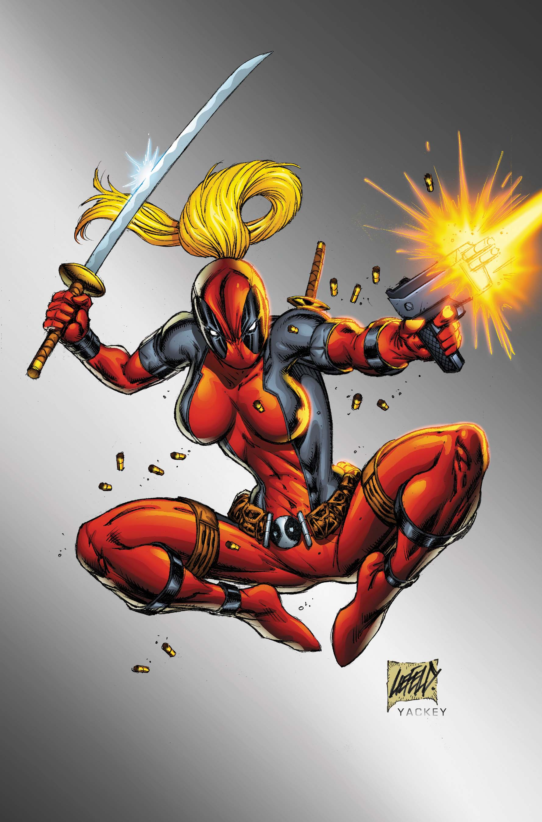 OF 13 2ND PTG VARIANT COVER LADY ROB LIEFELD NEW DEADPOOL MERC WITH A MOUTH #7