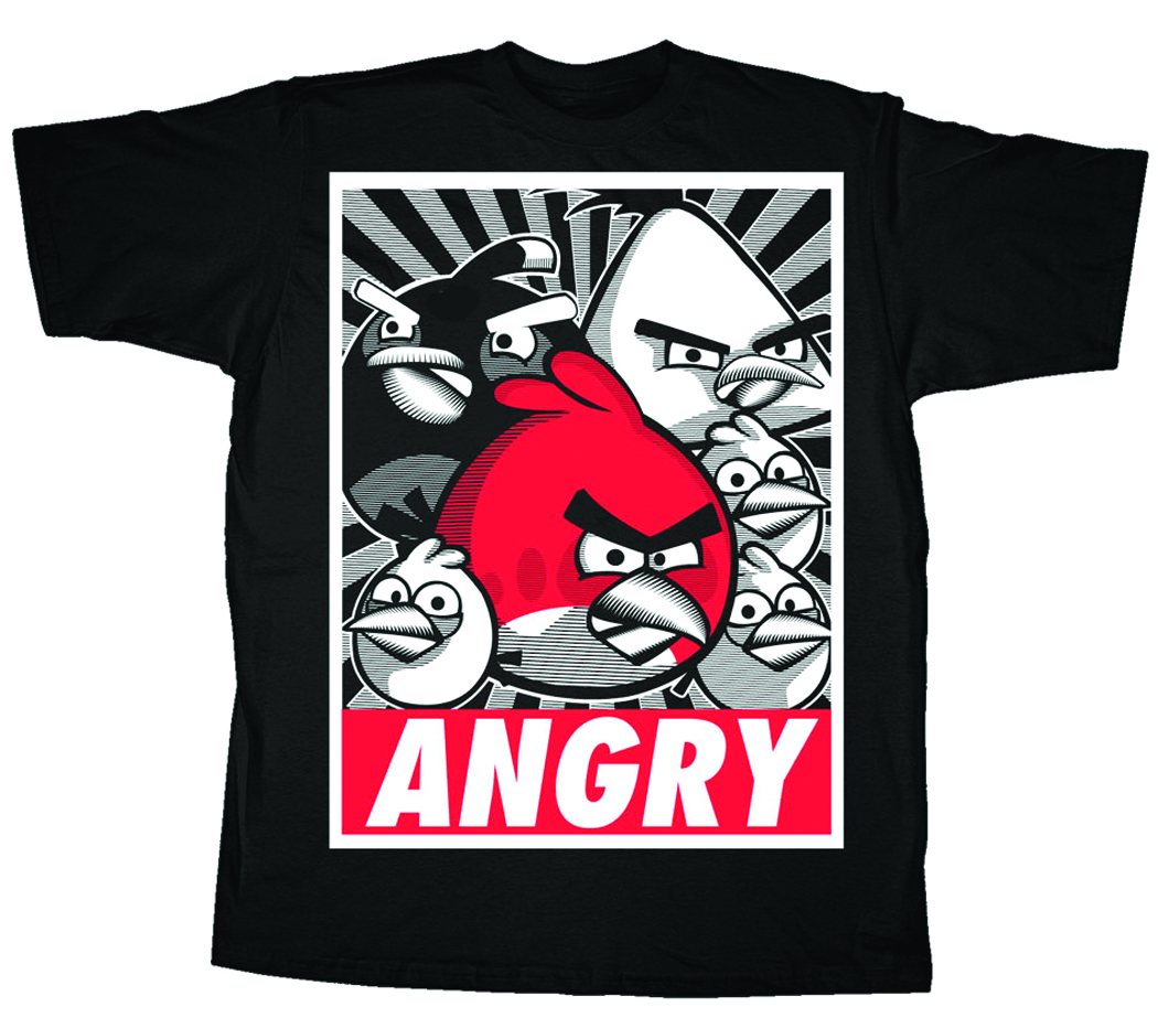 ANGRY BIRDS ANGRY PROPAGANDA T/S XL