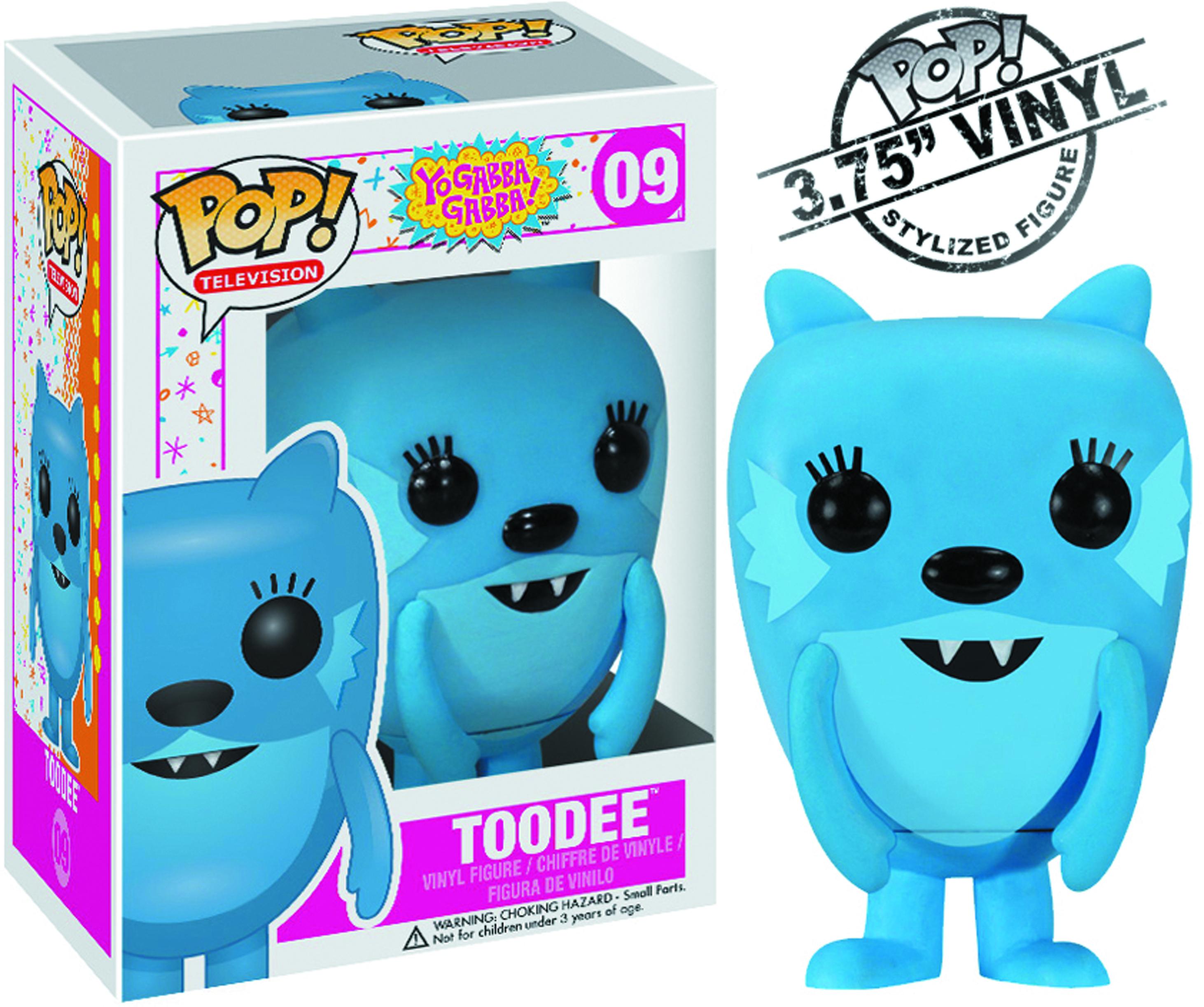May122088 Pop Yo Gabba Gabba Toodee Vinyl Fig Previews World