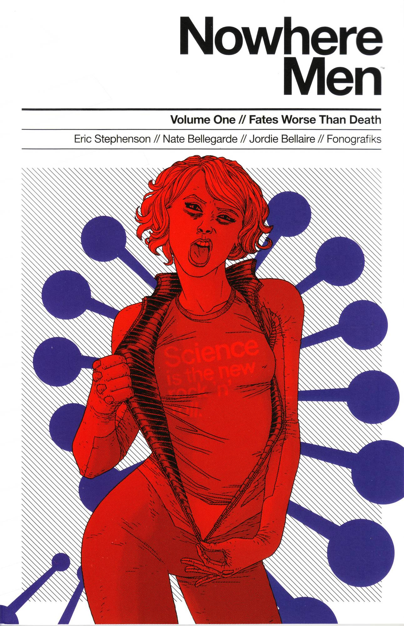 NOWHERE MEN TP VOL 01 FATES WORSE THAN DEATH (RED SHIRT)