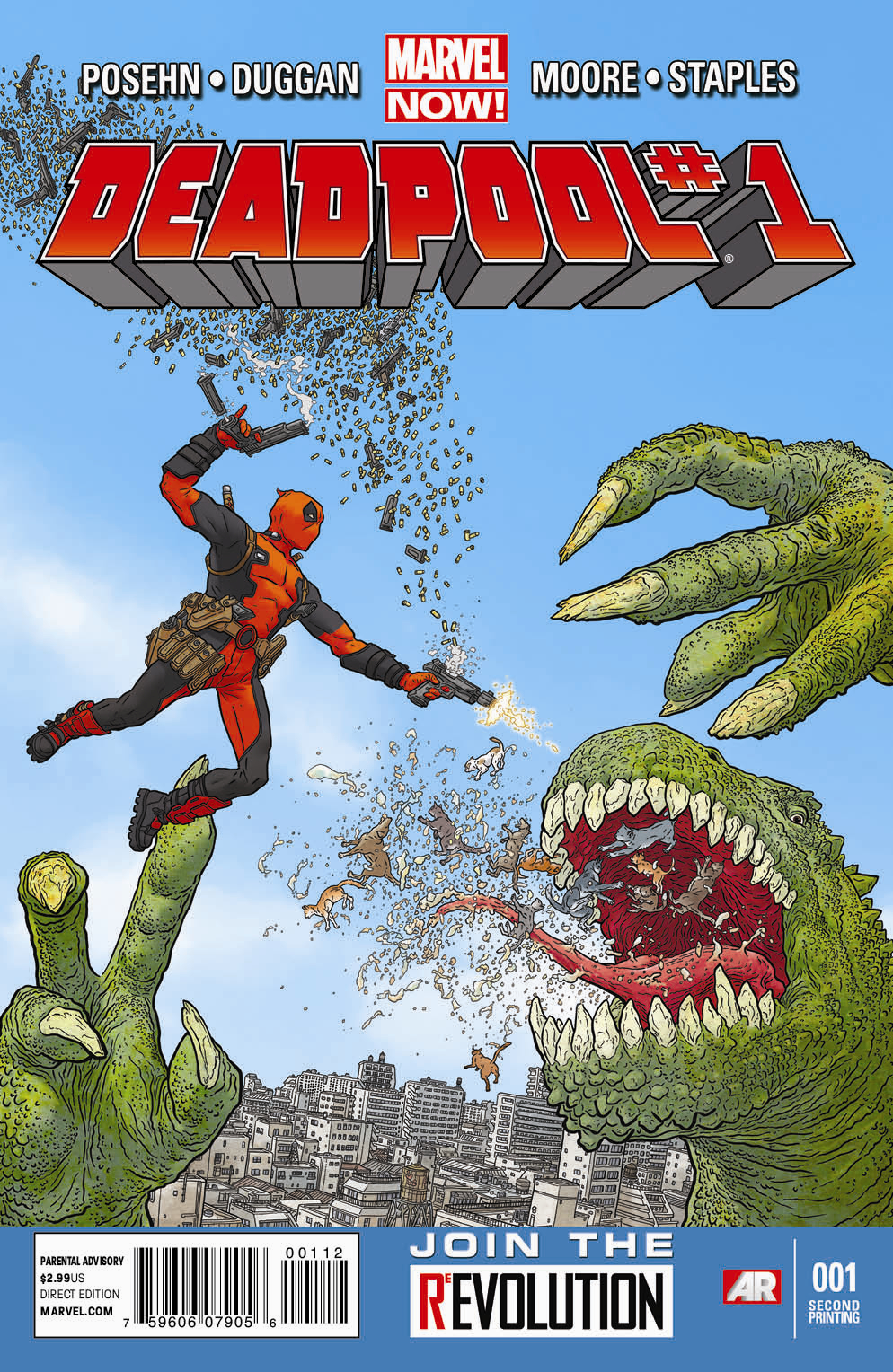 DEADPOOL #1 2ND PTG DARROW VAR NOW (PP #1052)
