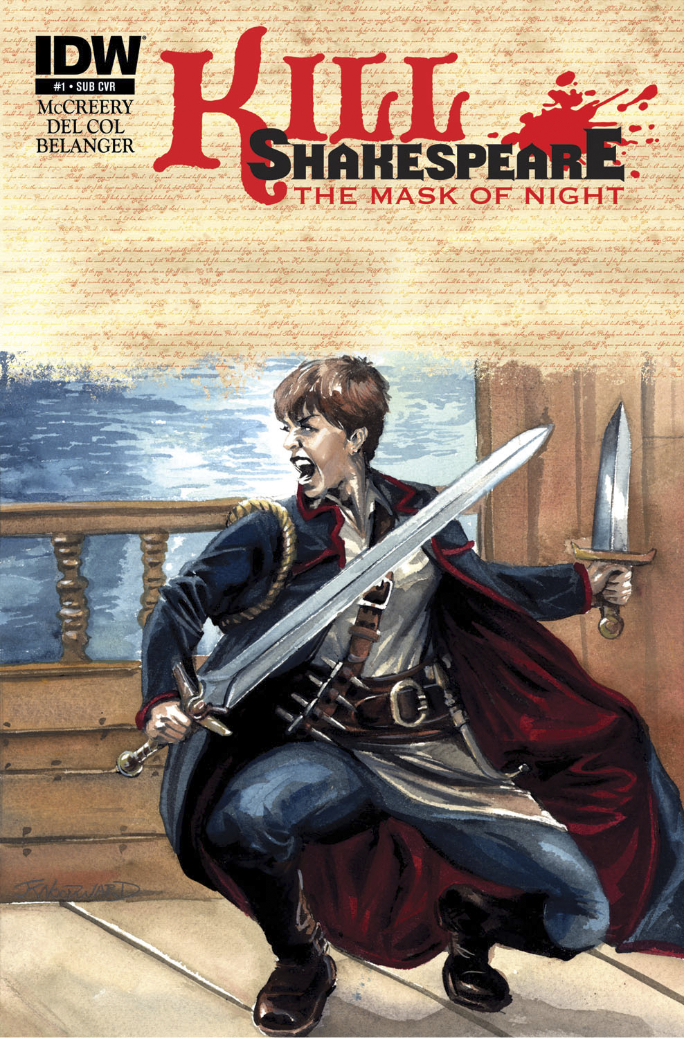 KILL SHAKESPEARE MASK OF NIGHT #1 (OF 4) SUBSCRIPTION VAR