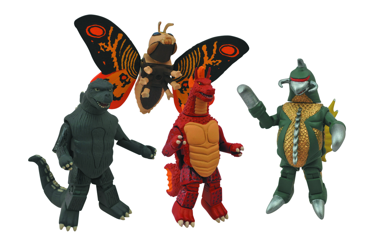 GODZILLA MINIMATES SERIES 1 BOX SET