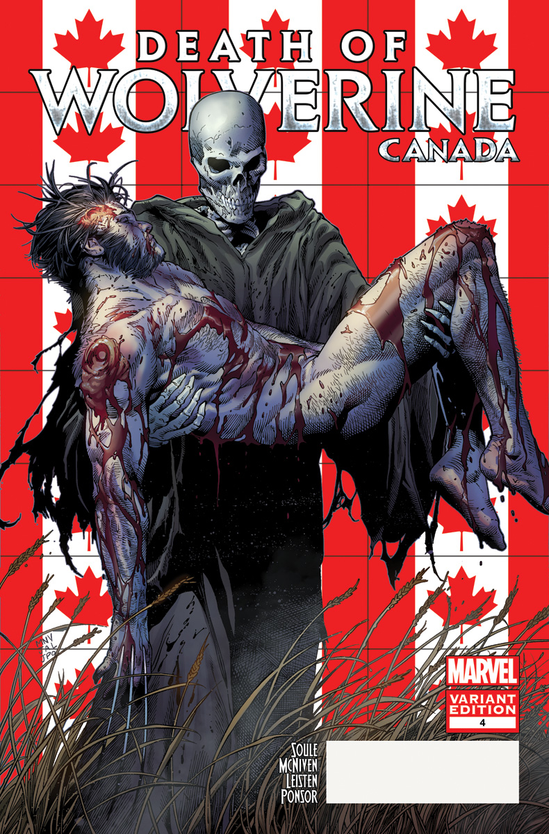 DEATH OF WOLVERINE #4 (OF 4) MCNIVEN CANADA VAR