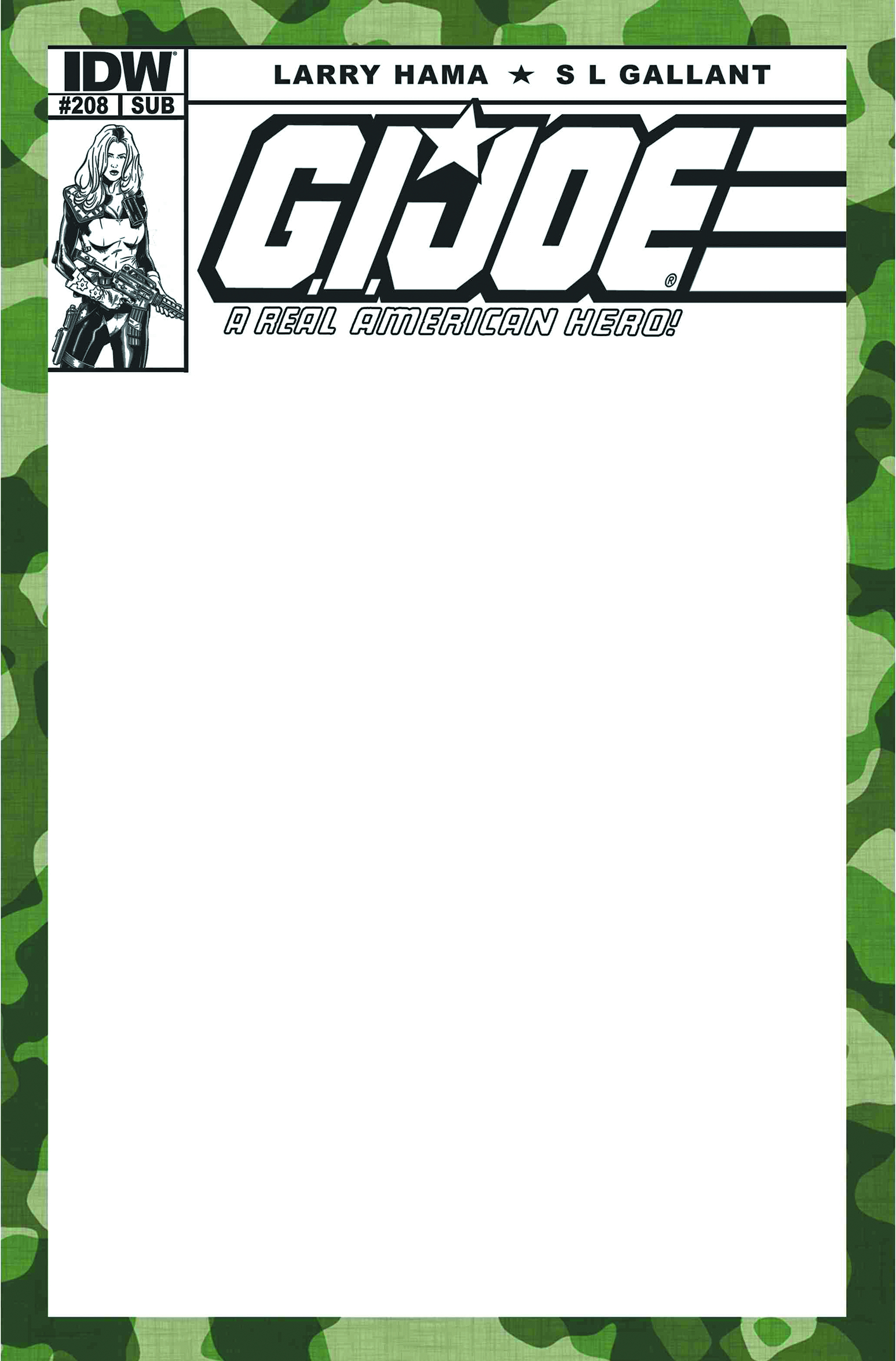 GI JOE A REAL AMERICAN HERO #208 BLANK SUBSCRIPTION VAR