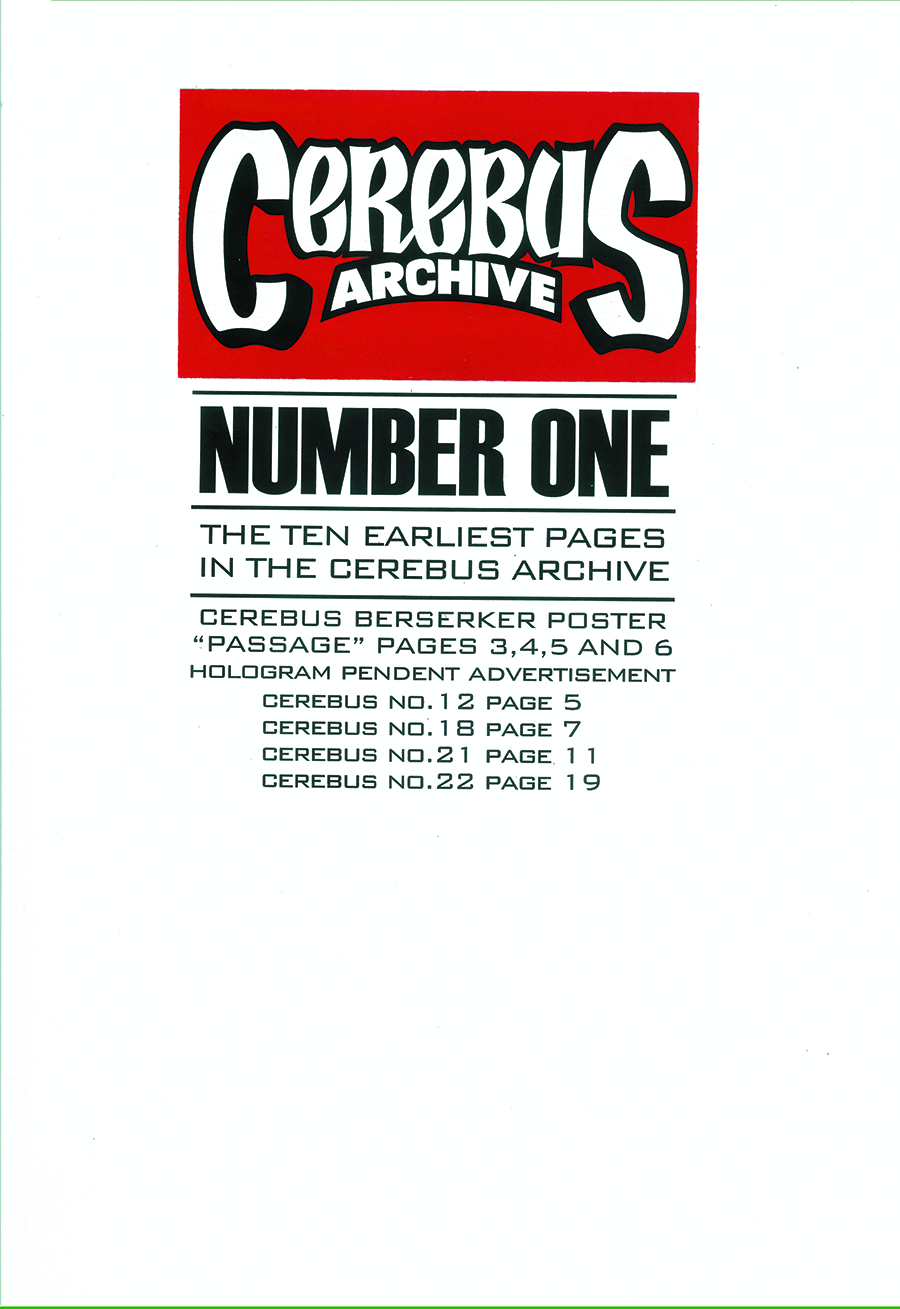 CEREBUS ARCHIVE VOL 01