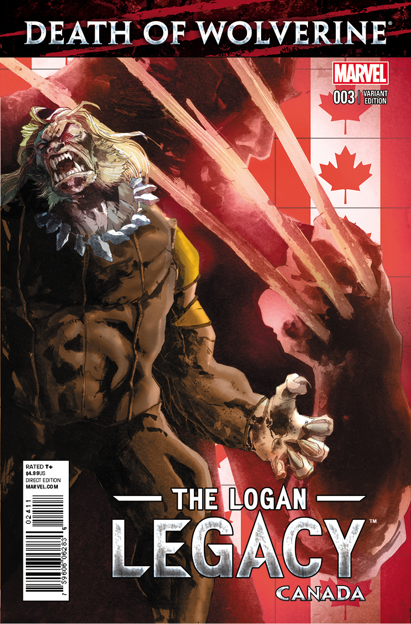 DEATH OF WOLVERINE LOGAN LEGACY #3 (OF 7) CANADA VAR (PP #11