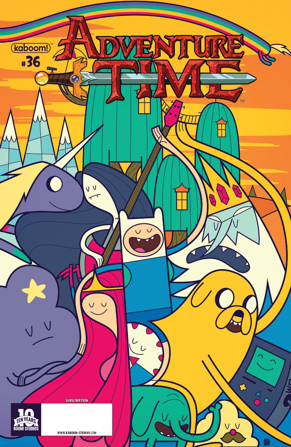ADVENTURE TIME #36 SUBSCRIPTION GIORINI VAR