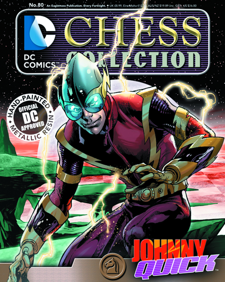 DC SUPERHERO CHESS FIG COLL MAG #80 JOHNNY QUICK WHITE KNIGH