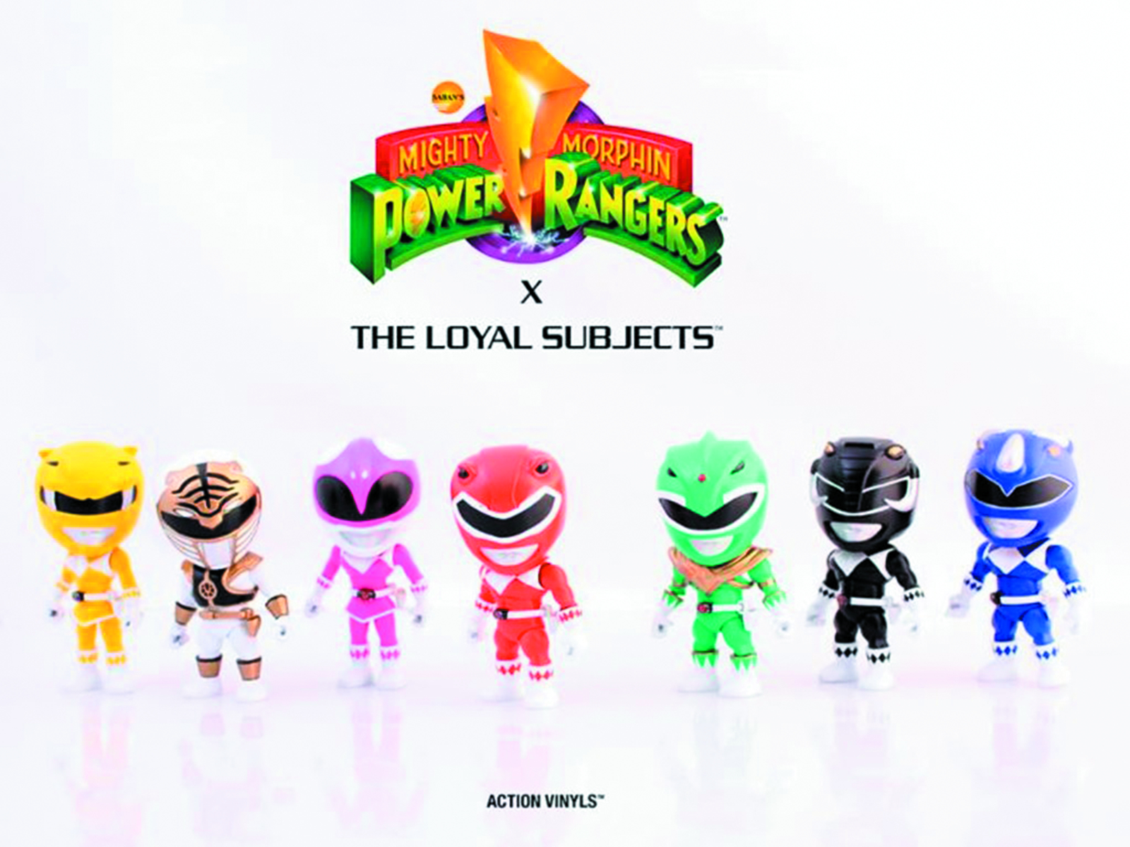 TLS X MMPR ACTION VINYL 16PC BMB DIS WV 1 (RES)