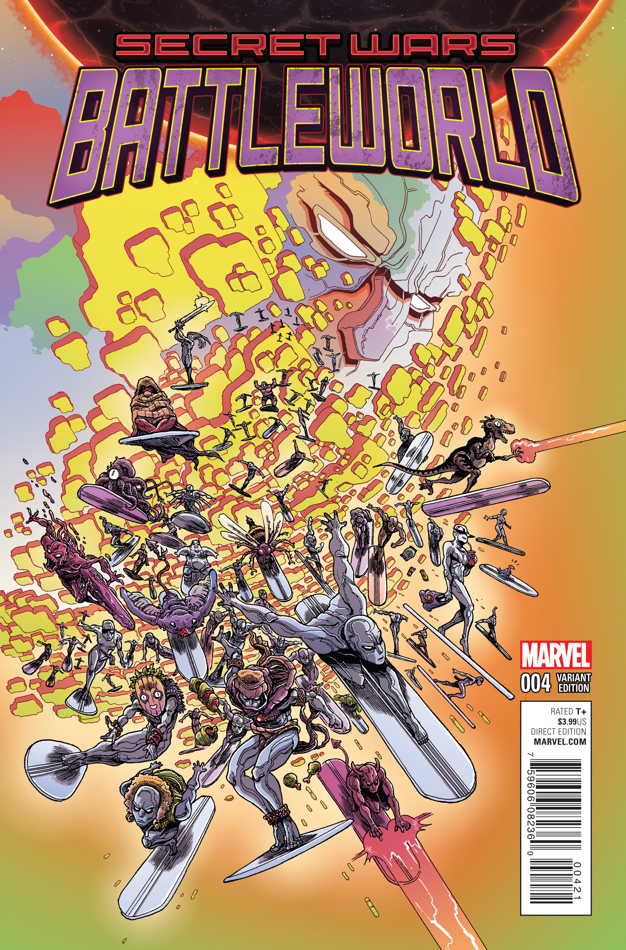SECRET WARS BATTLEWORLD #4 (OF 4) STOKOE VAR SWA