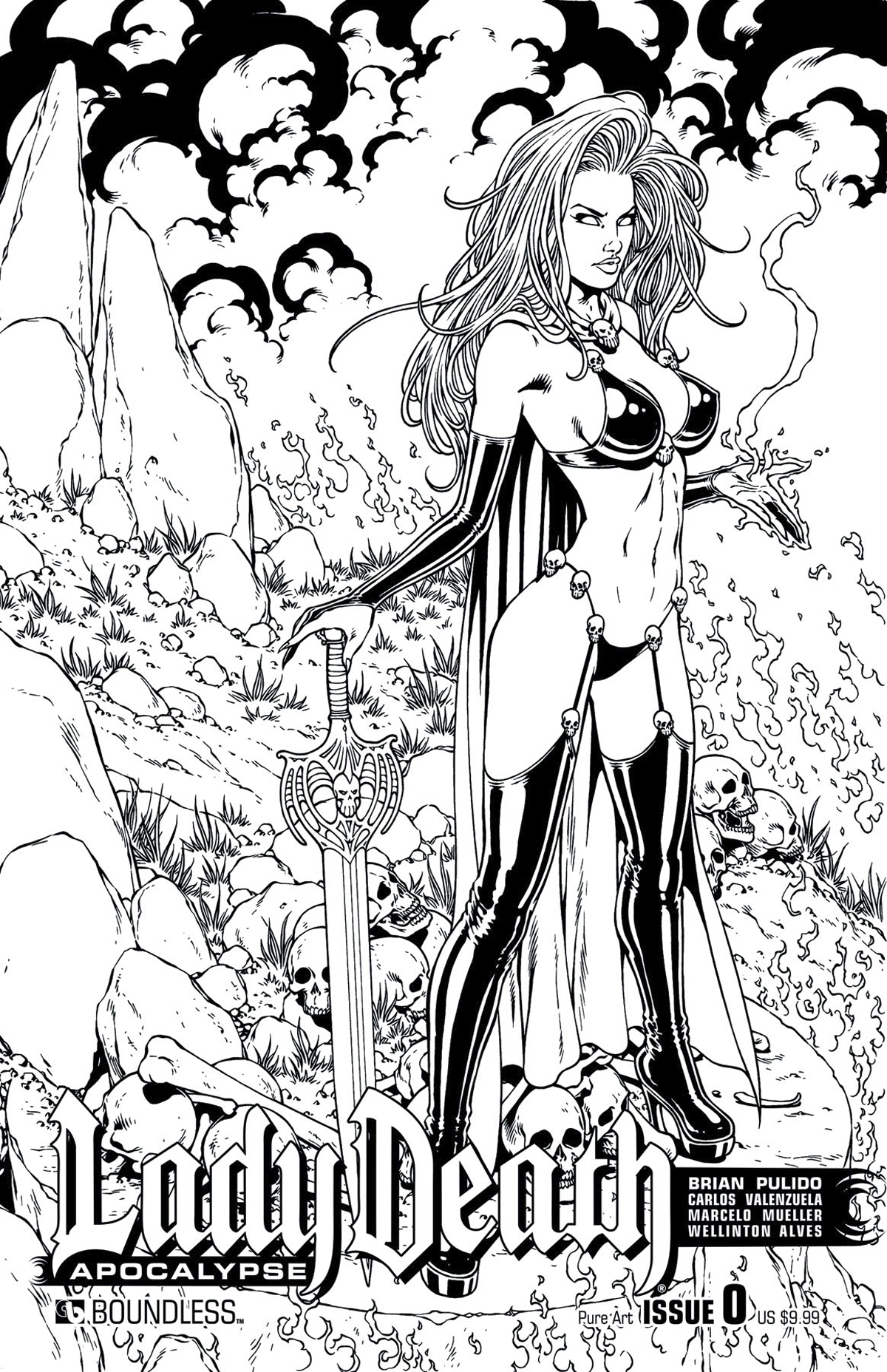 LADY DEATH APOCALYPSE #0 PURE ART CVR (MR)