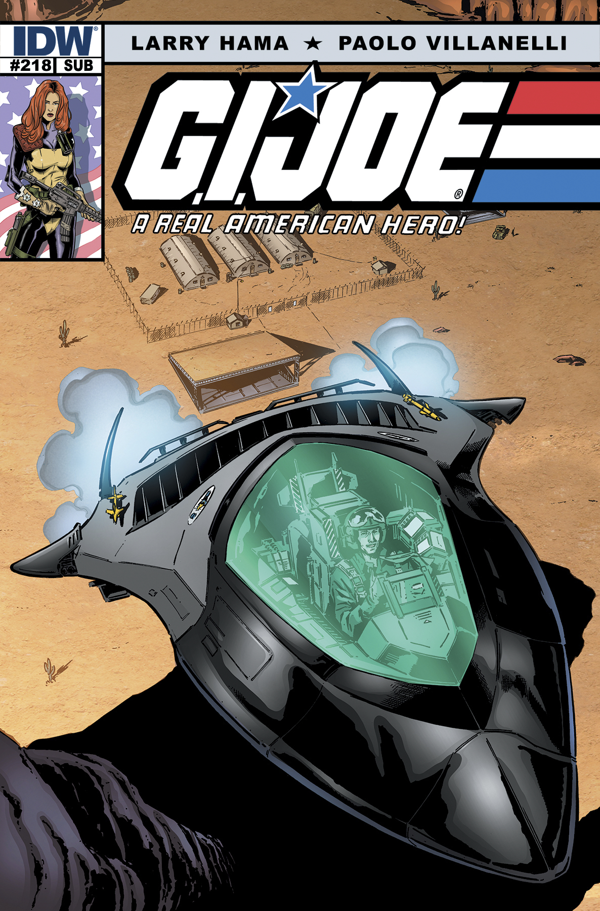 GI JOE A REAL AMERICAN HERO #218 SUBSCRIPTION VAR