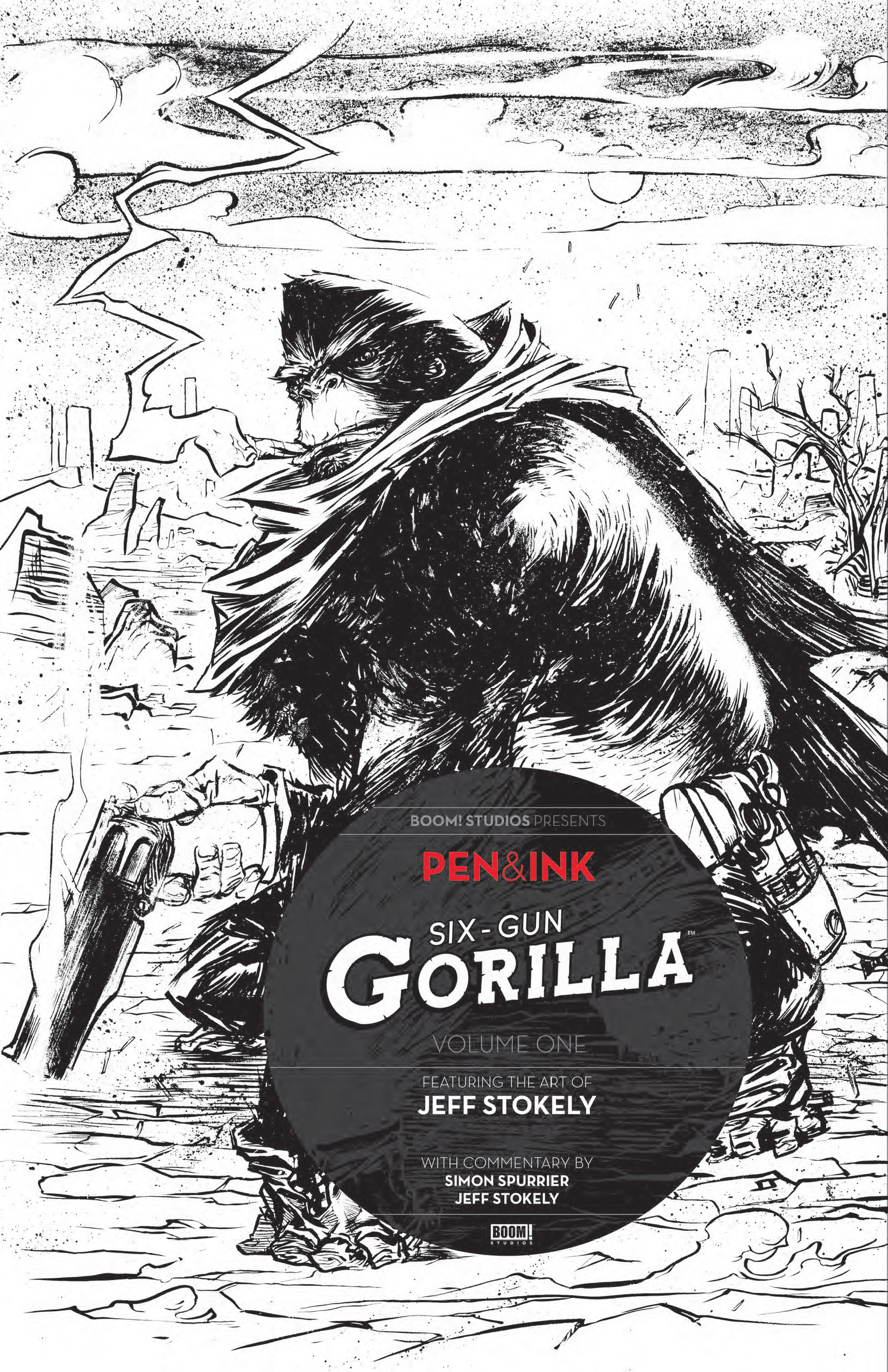 SIX GUN GORILLA PEN INK #1