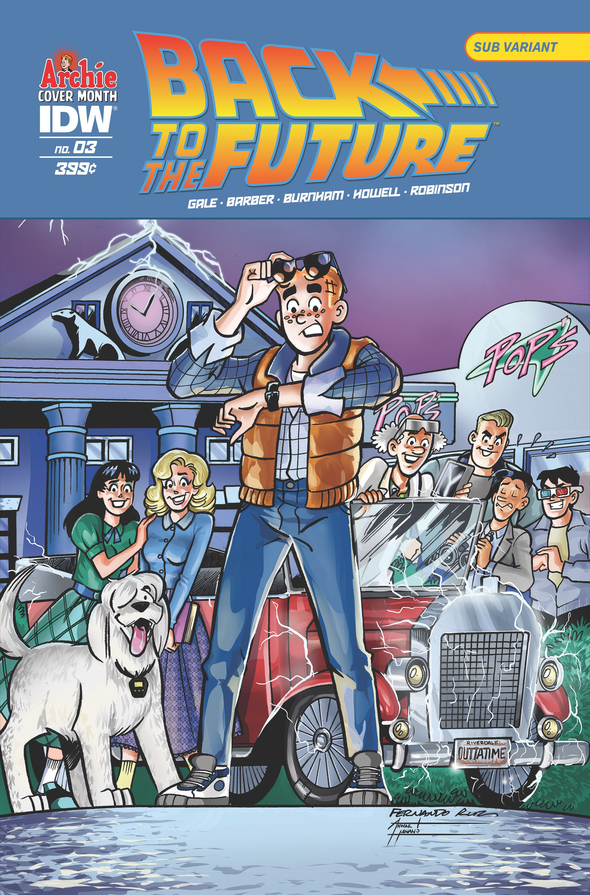 BACK TO THE FUTURE #3 (OF 4) ARCHIE 75TH ANNV VAR