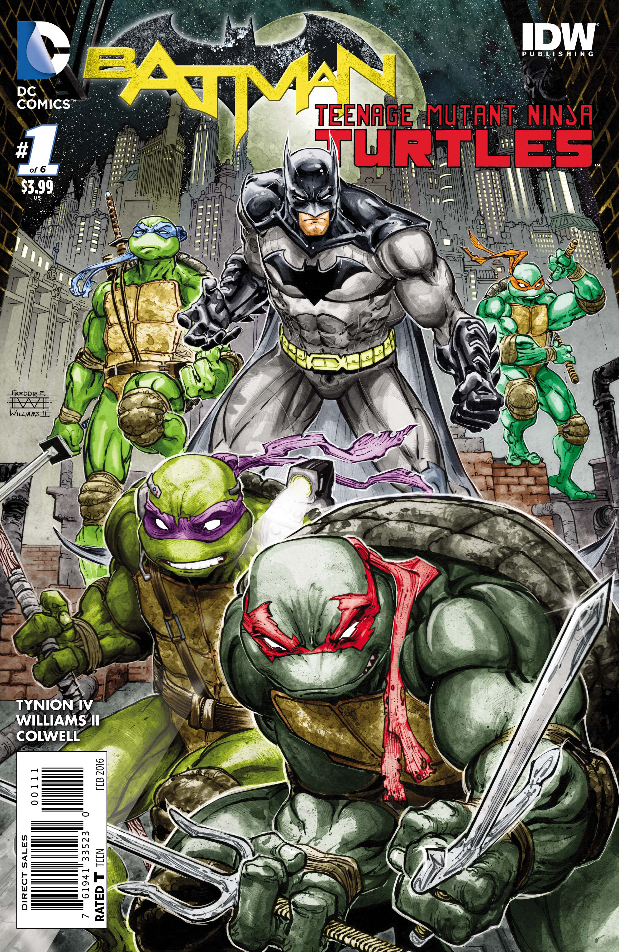 BATMAN TEENAGE MUTANT NINJA TURTLES #1 (OF 6)