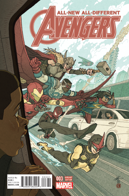 ALL NEW ALL DIFFERENT AVENGERS #3 CHAN VAR