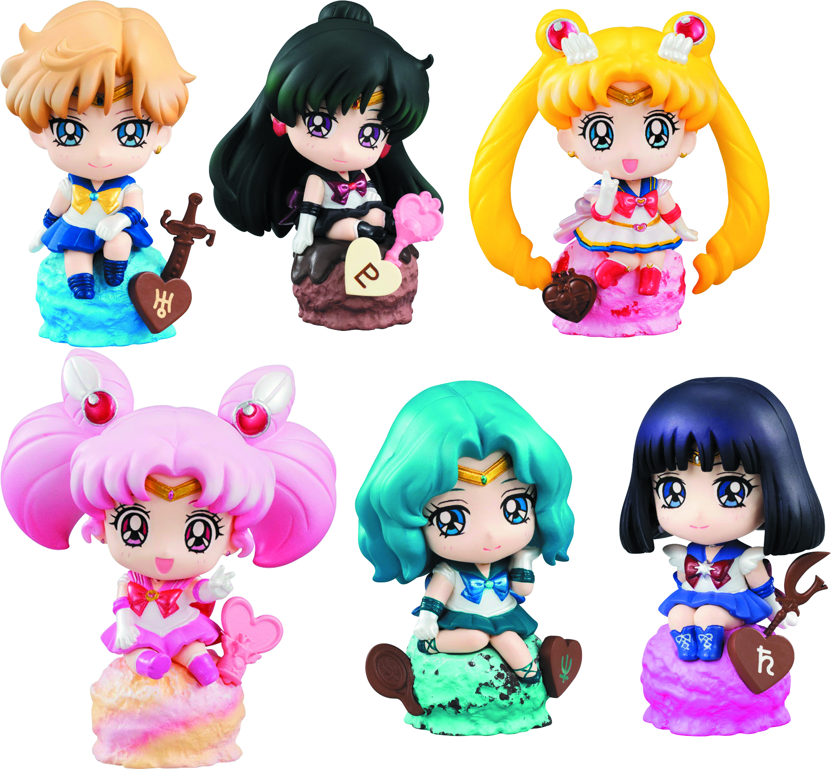SAILOR MOON PETIT CHARA ICE CREAM PARTY VER SET