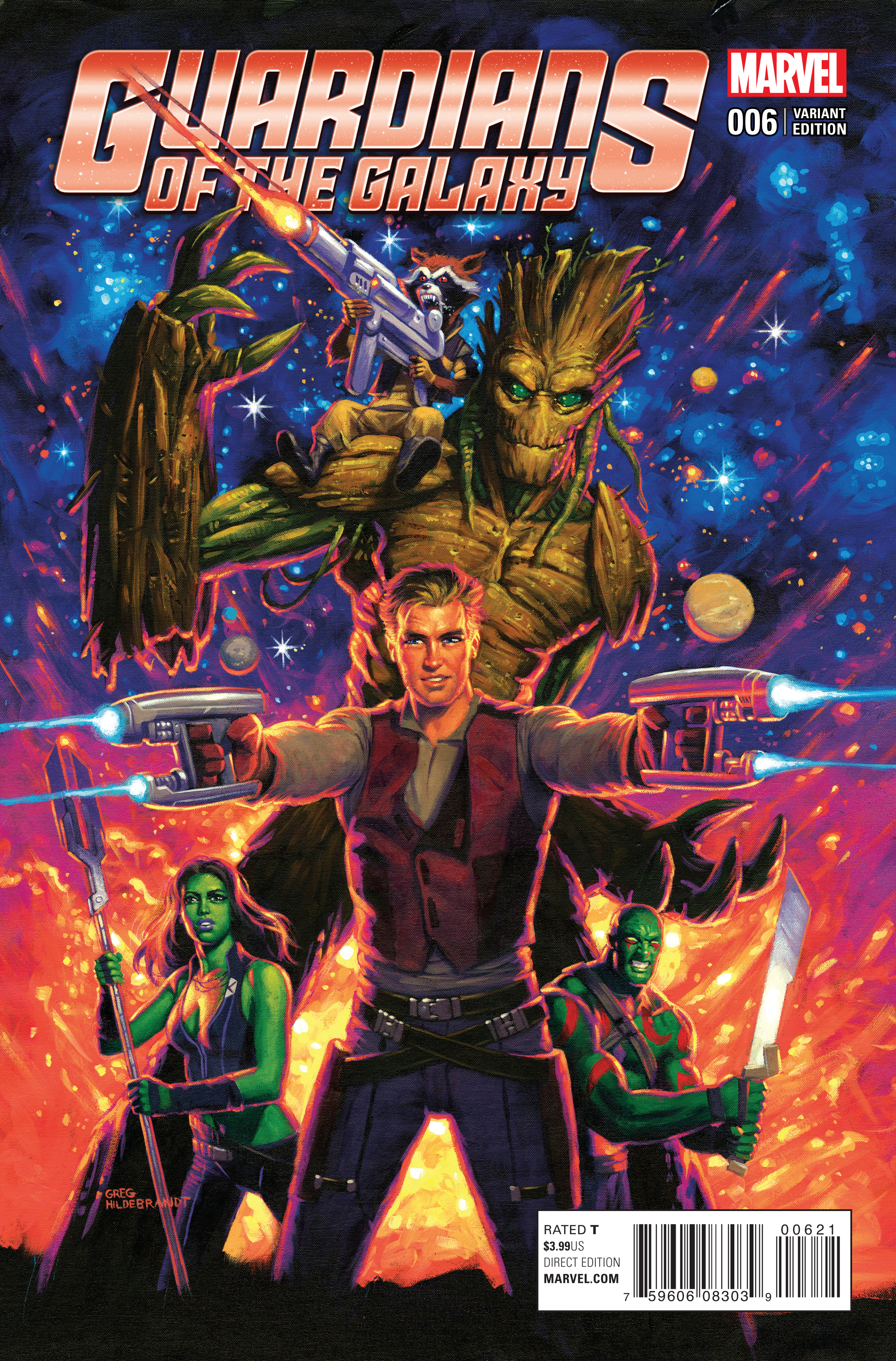 Jan160817 Guardians Of Galaxy 6 Hildebrandt Classic Var Previews World