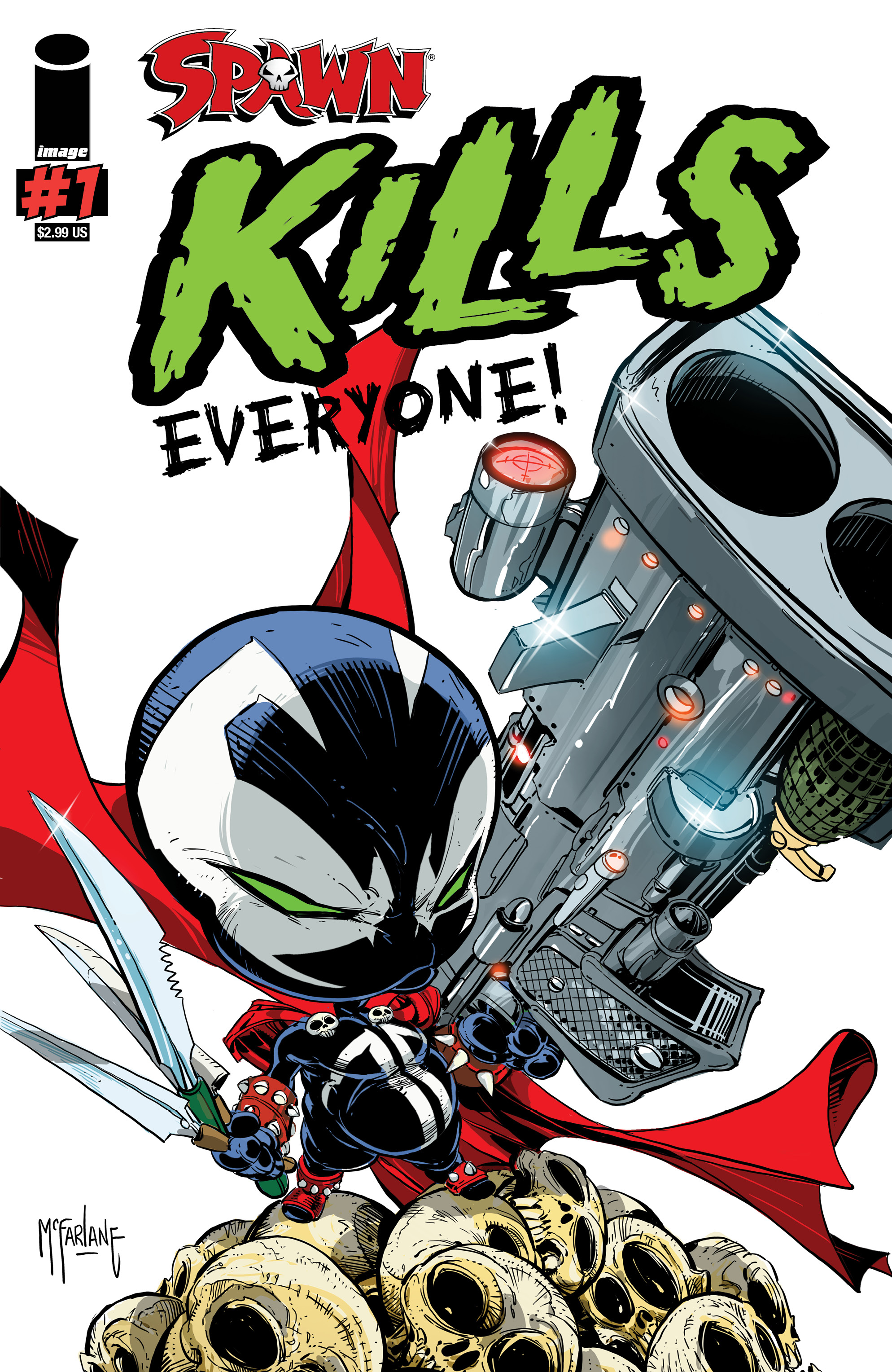 SPAWN KILLS EVERYONE ONE SHOT CVR A MCFARLANE