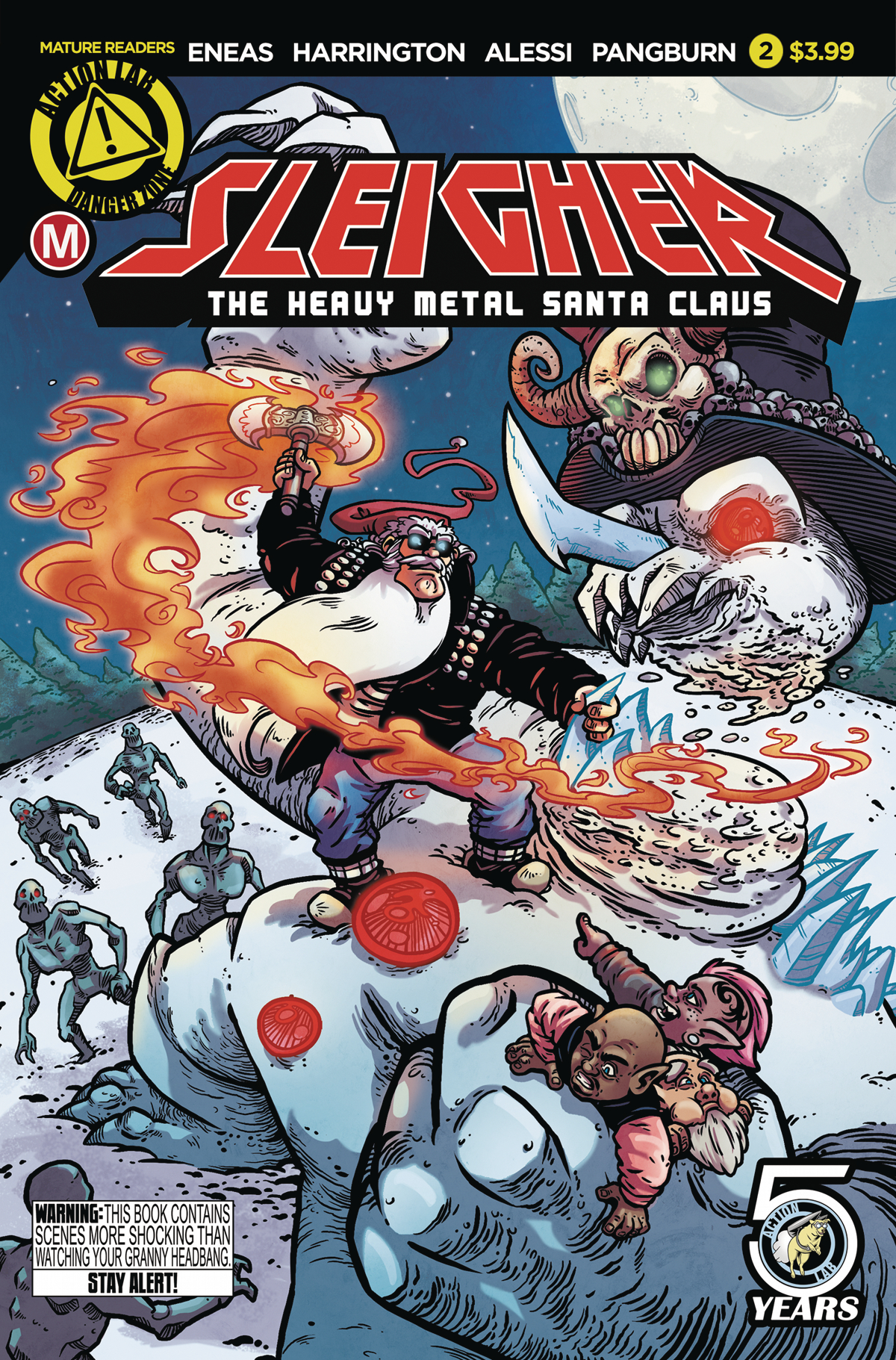 SLEIGHER HEAVY METAL SANTA CLAUS #2 (OF 4) CVR A ENEAS (MR)