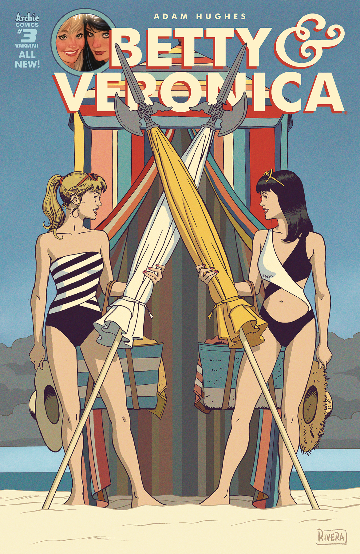 BETTY & VERONICA BY ADAM HUGHES #3 CVR E VAR RIVERA (RES)