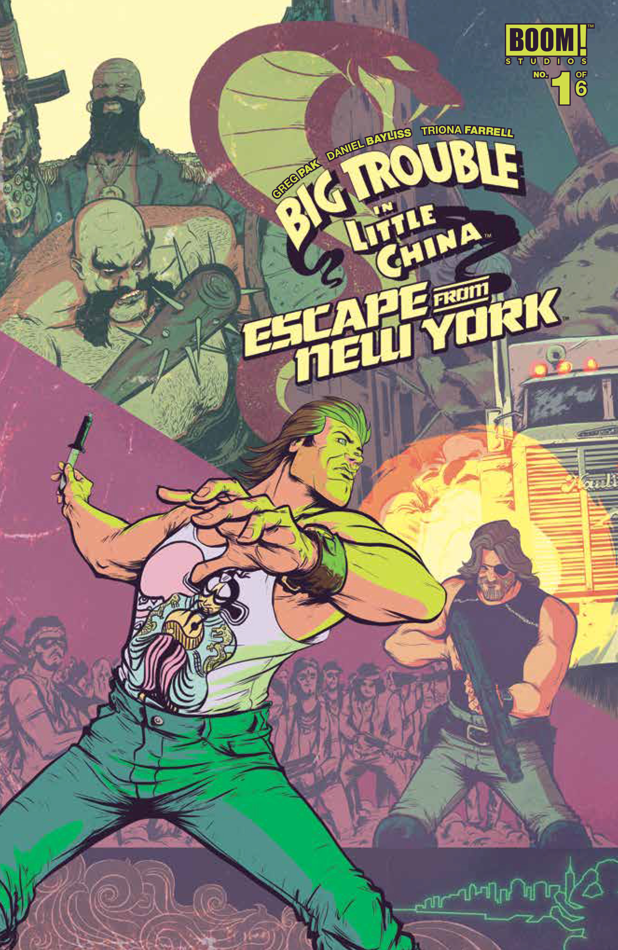 BIG TROUBLE LITTLE CHINA ESCAPE NEW YORK #1 MAIN CVRS