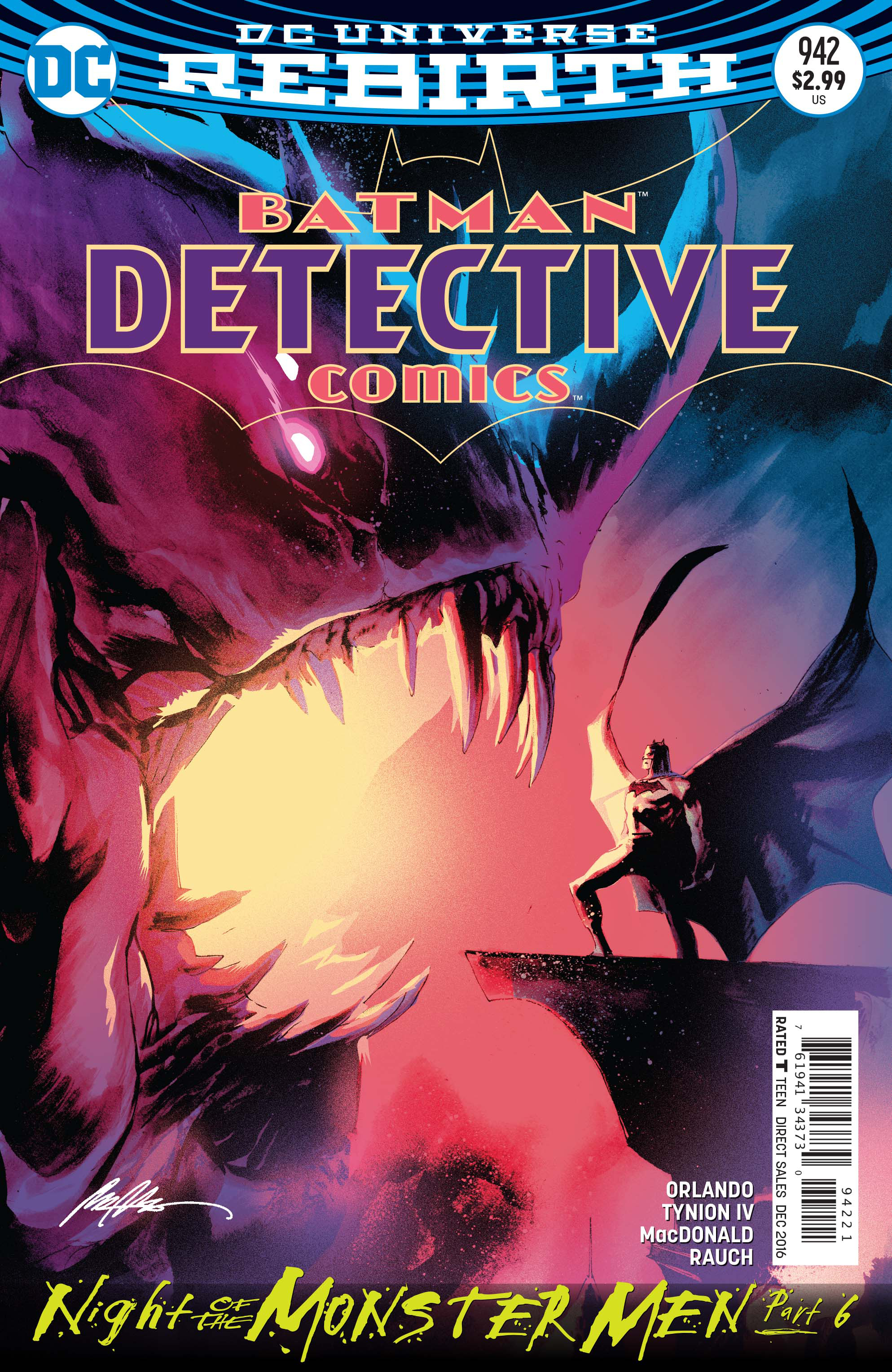 DETECTIVE COMICS #942 VAR ED (MONSTER MEN)