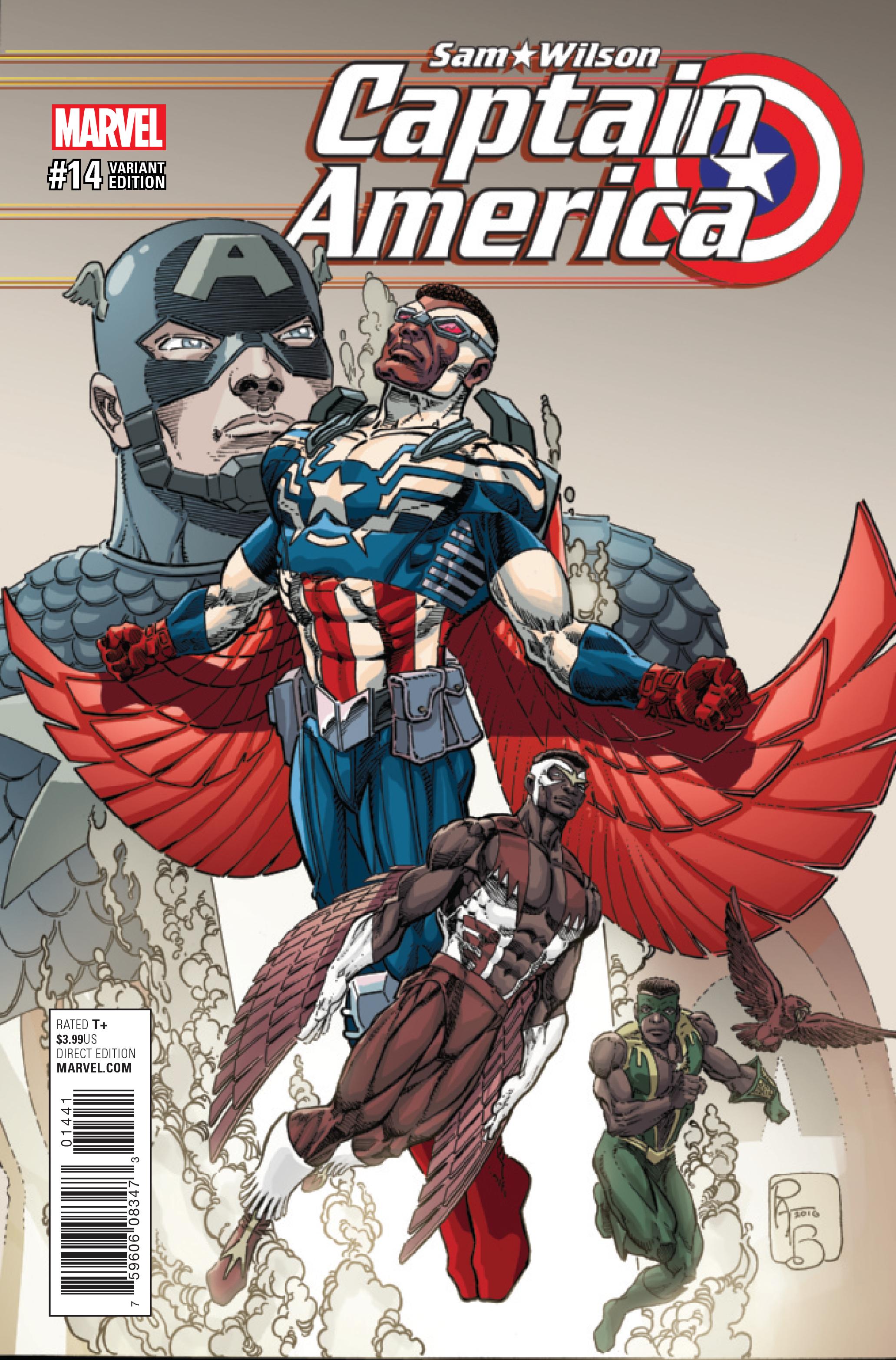 Estas son las diferencias del traje de Captain America de Sam entre los cómics y la serie STL020642