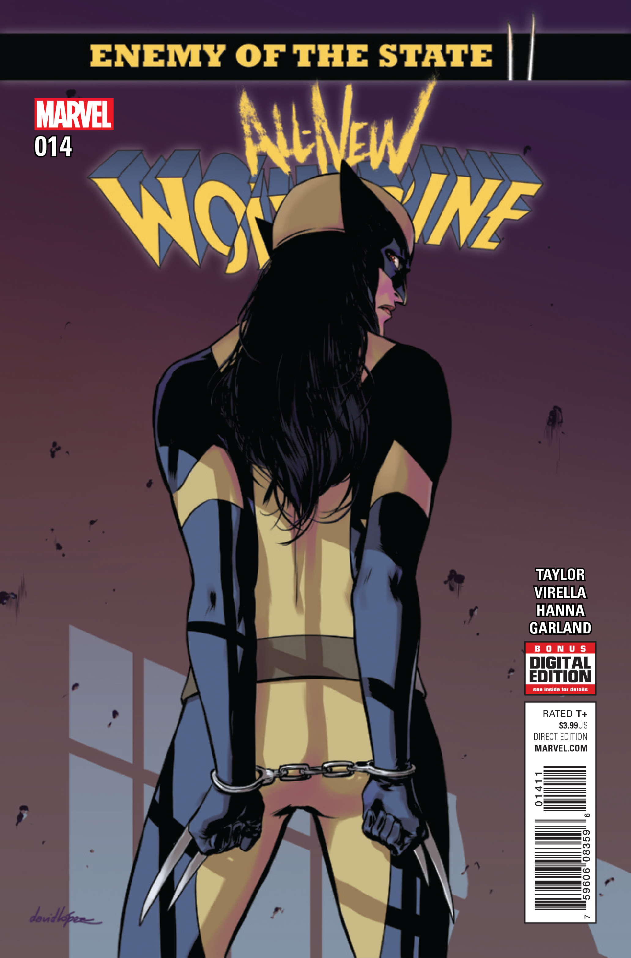 #14 VF//NM Enemy of the State II All-New Wolverine 2015