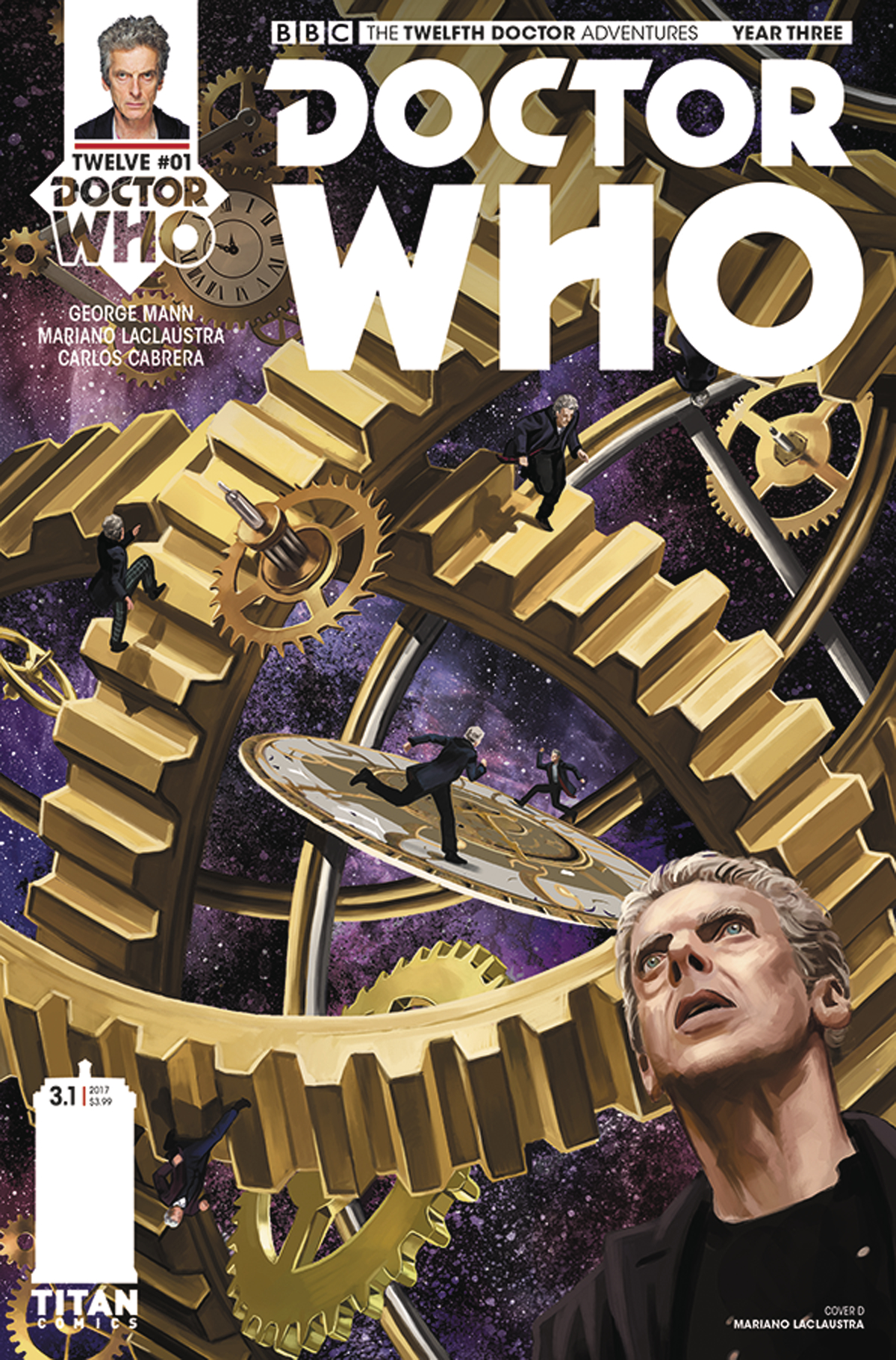 DOCTOR WHO 12TH YEAR THREE #1 CVR D LACLAUSTRA