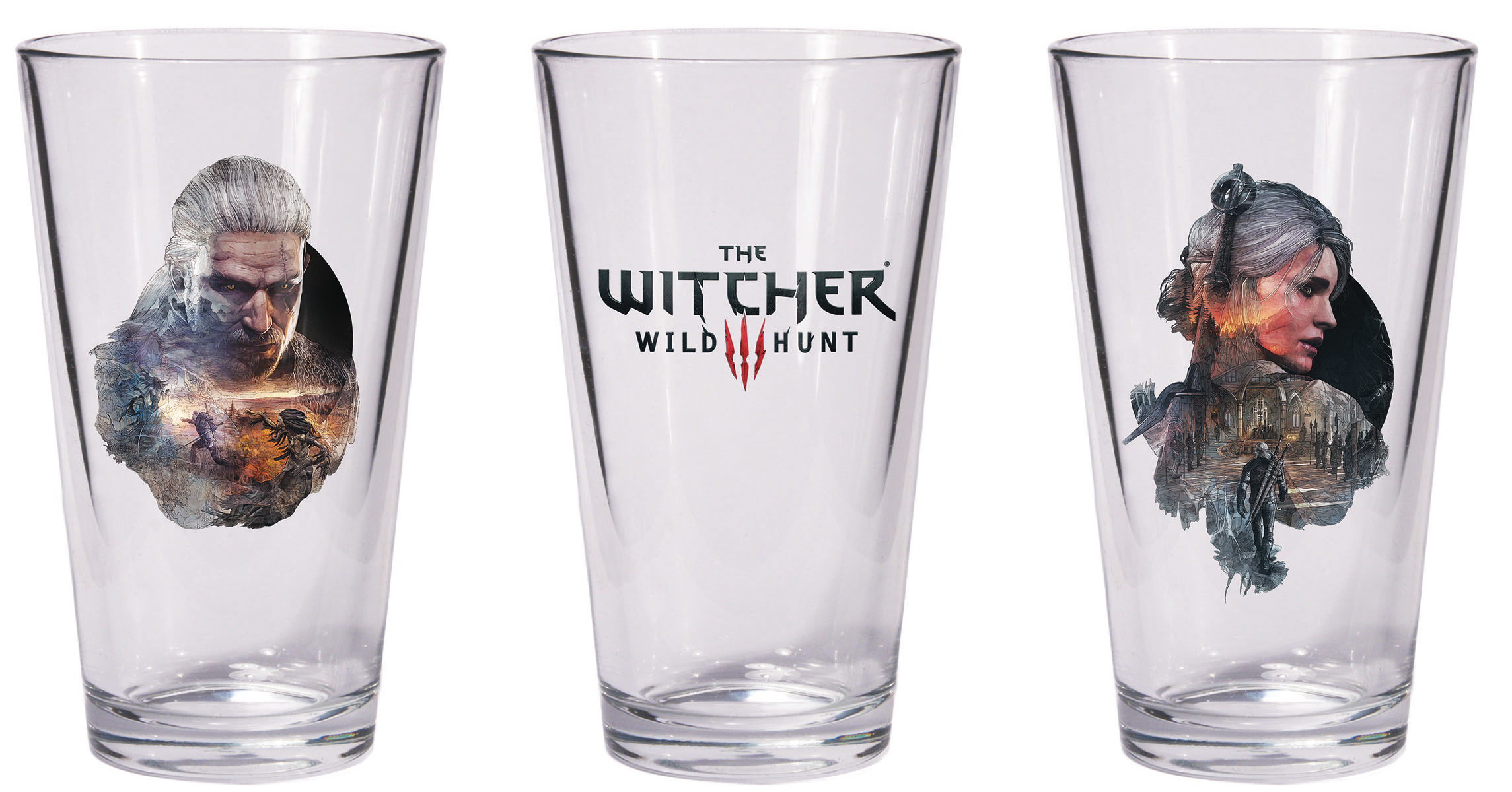 WITCHER PINT GLASS SET GERALT & CIRI