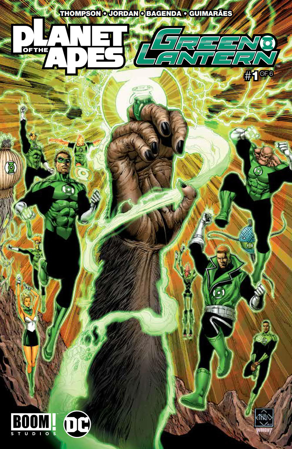 PLANET OF APES GREEN LANTERN #1 MAIN CVR