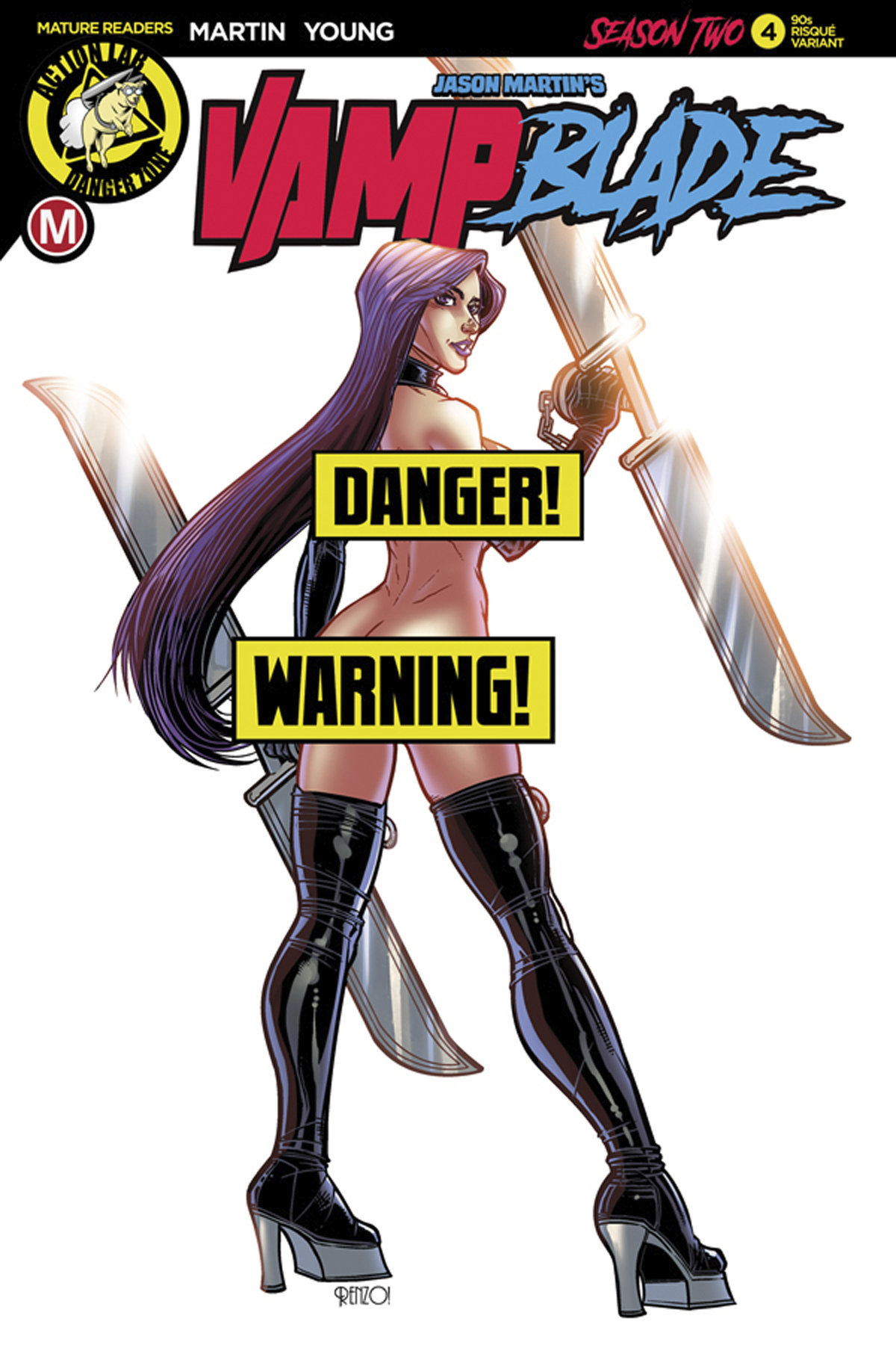 VAMPBLADE SEASON TWO #4 CVR F RODRIGUEZ 90S VAR RISQUE (MR)