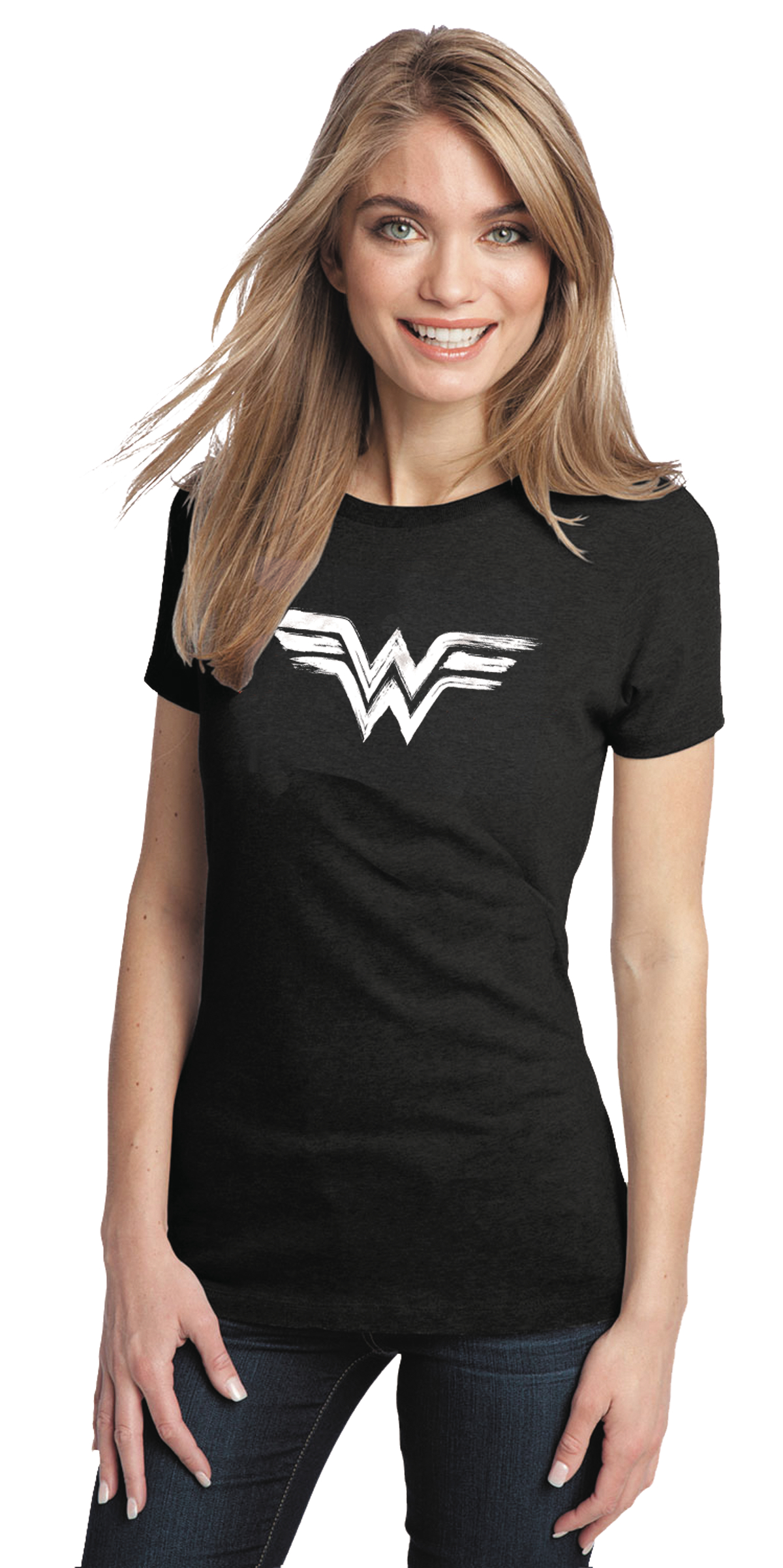 WONDER WOMAN BRUSHED SYMBOL WOMENS T/S XL