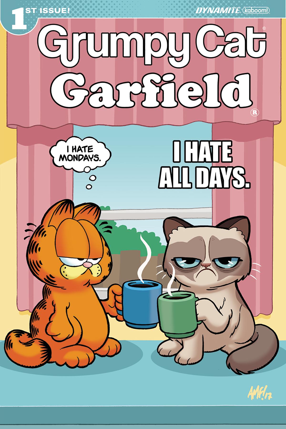 Jun171452 Grumpy Cat Garfield 1 Of 3 Cvr D Fleecs Previews World