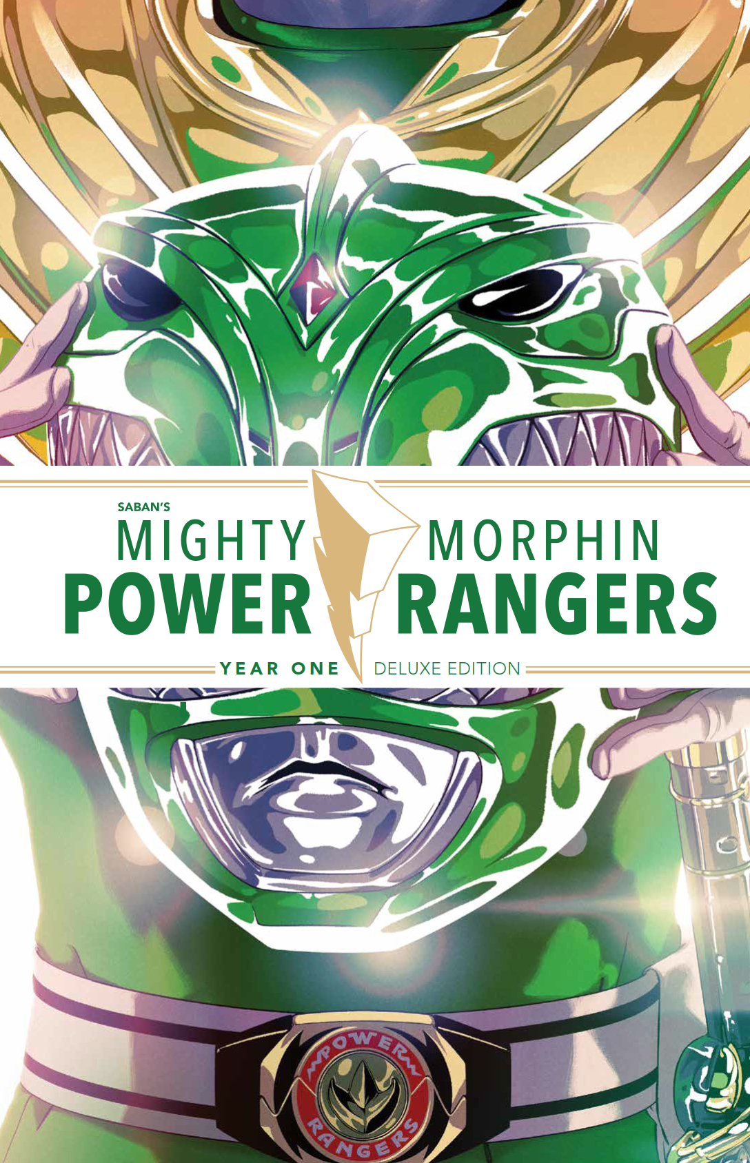 MIGHTY MORPHIN POWER RANGERS DLX HC YEAR ONE