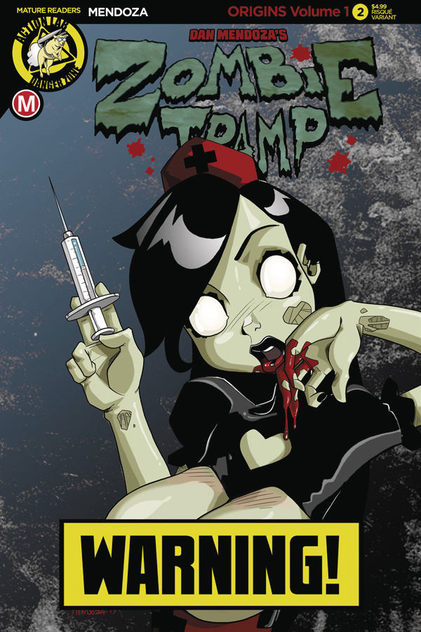 ZOMBIE TRAMP ORIGINS #3 CVR B MENDOZA RISQUE (MR)