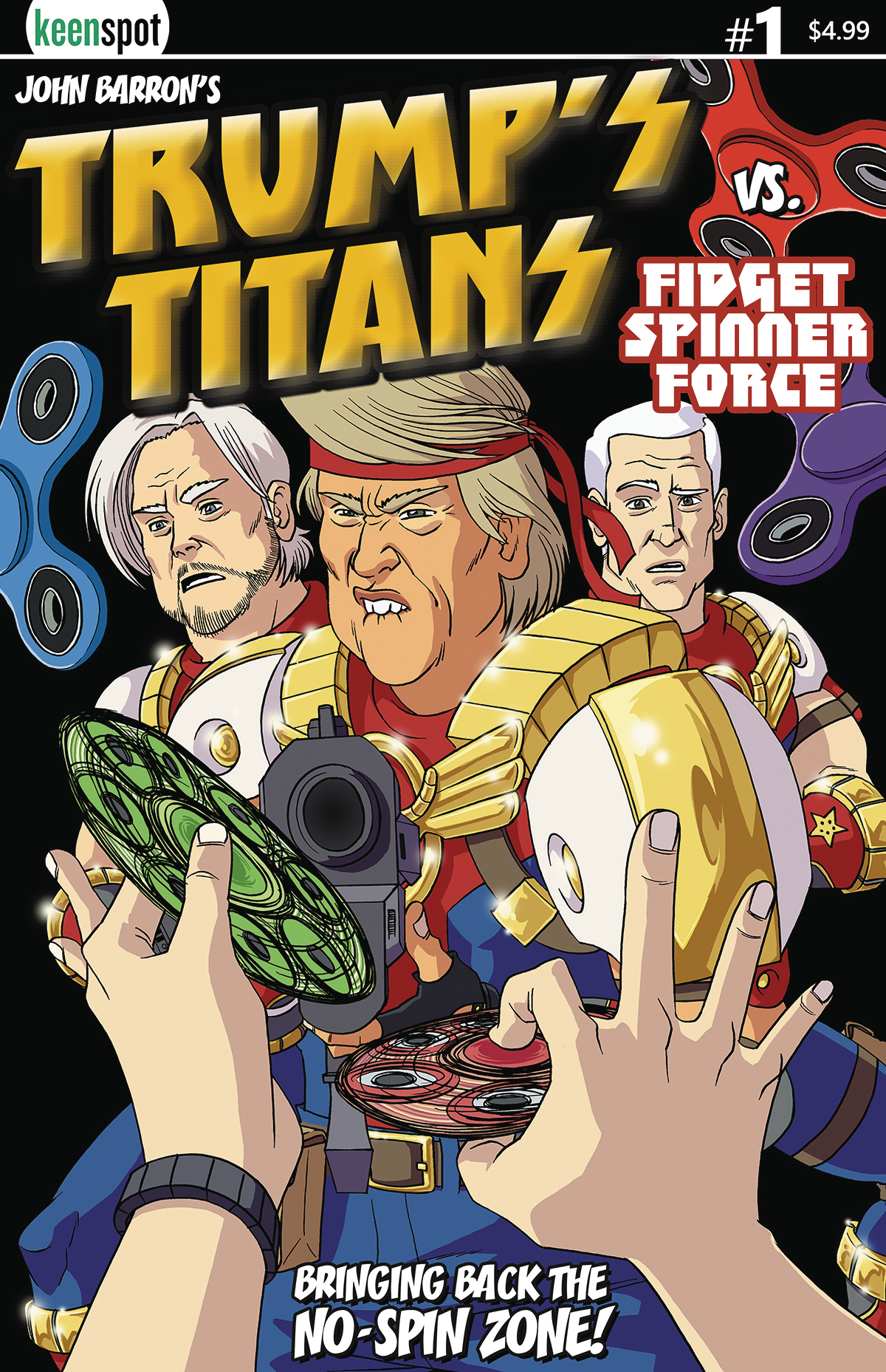 TRUMPS TITANS VS FIDGET SPINNER #1 CVR A NO SPIN ZONE VAR