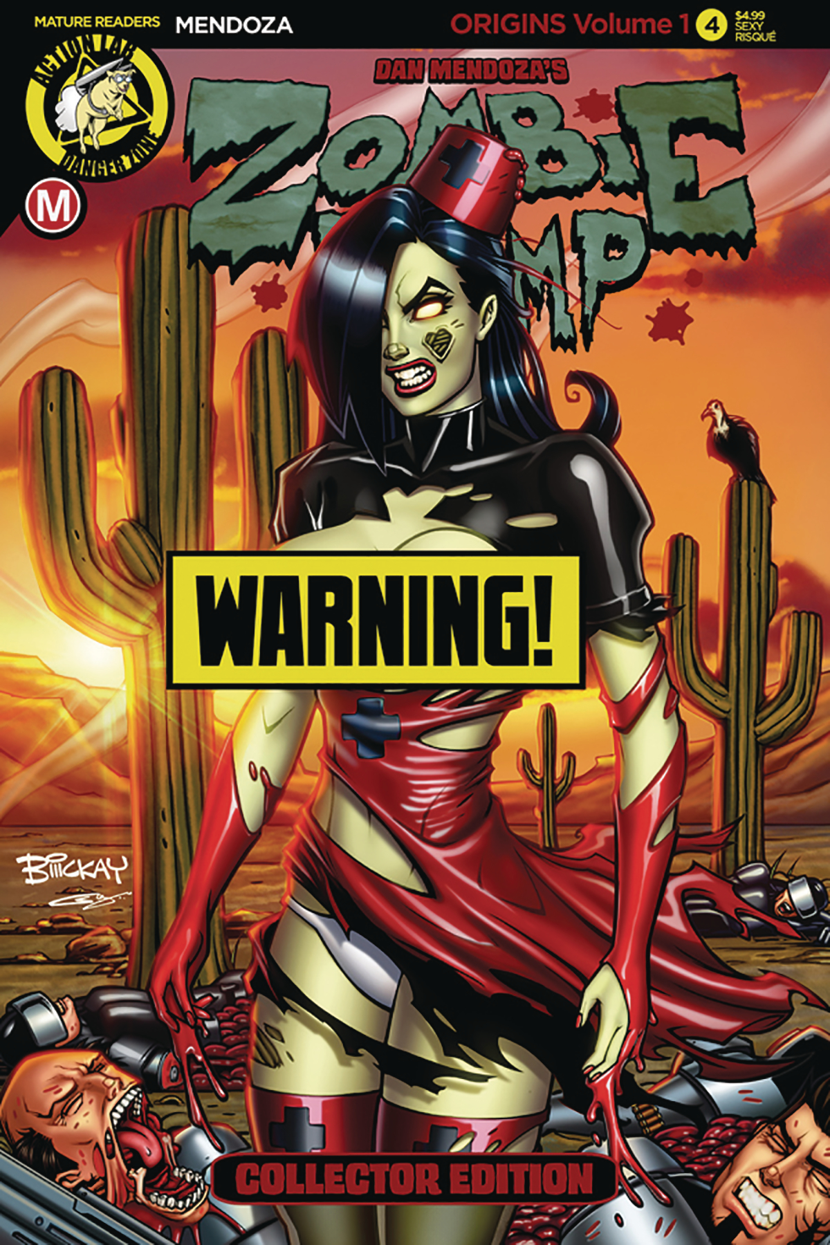 ZOMBIE TRAMP ORIGINS #4 CVR D MCKAY RISQUE (MR)