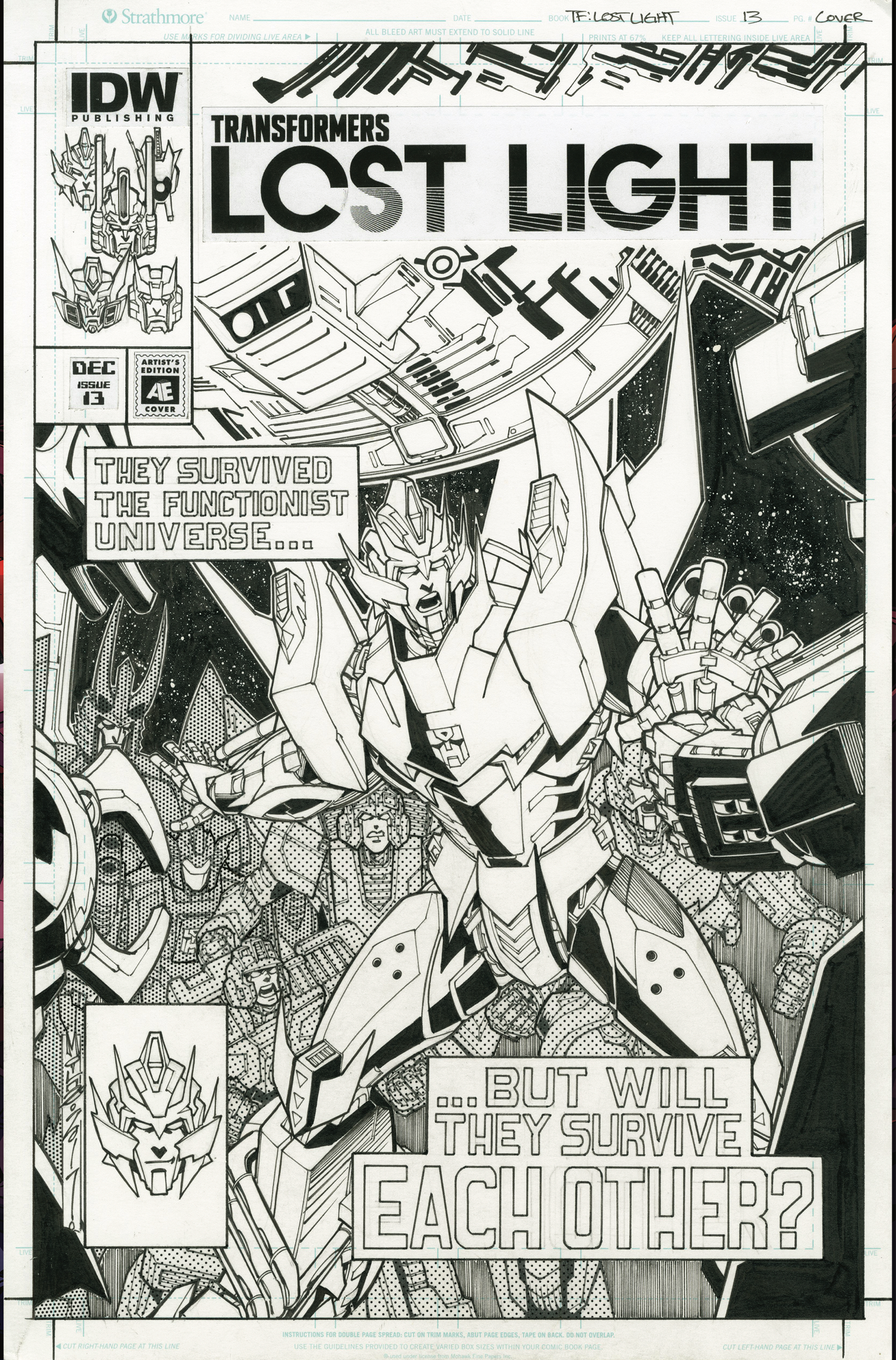 TRANSFORMERS LOST LIGHT #13 CVR C ARTIST ED MILNE