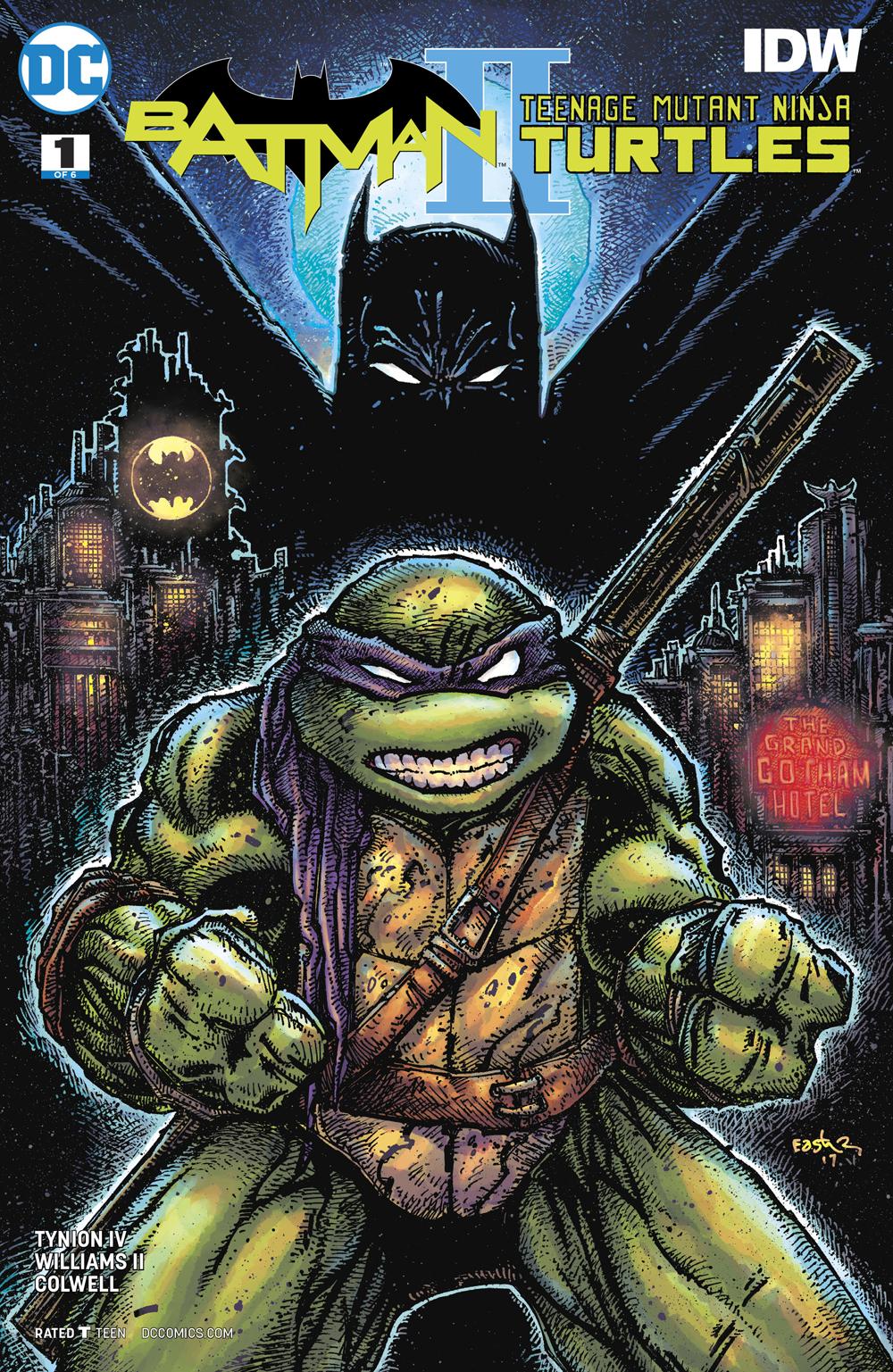 Awesome Cover High Grade Batman Teenage Mutange Ninja Turtles #2 2016