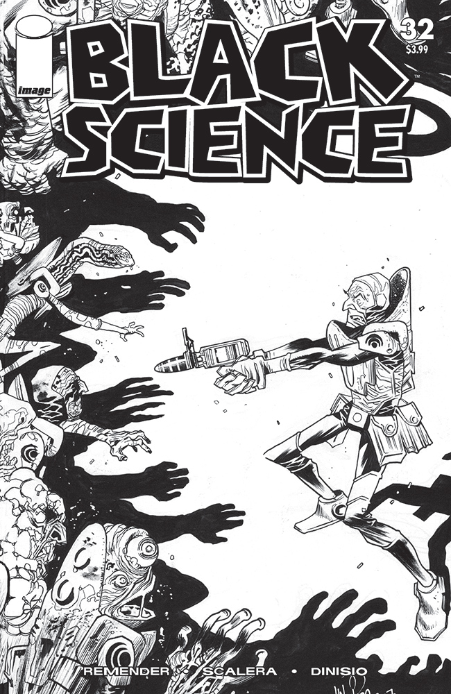 BLACK SCIENCE #32 CVR D B&W WALKING DEAD #5 TRIBUTE VAR (MR)